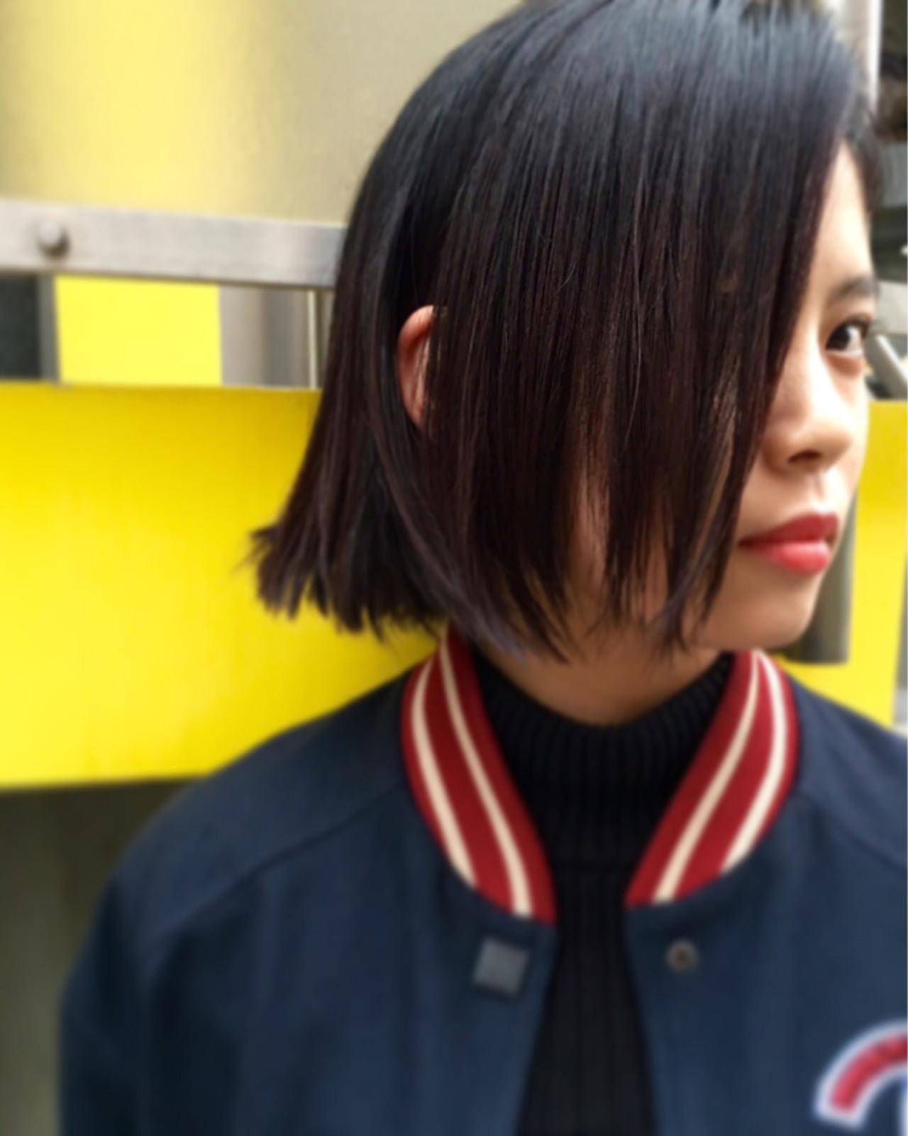 黒髪 外国人風 暗髪 ストリート ヘアスタイルや髪型の写真・画像