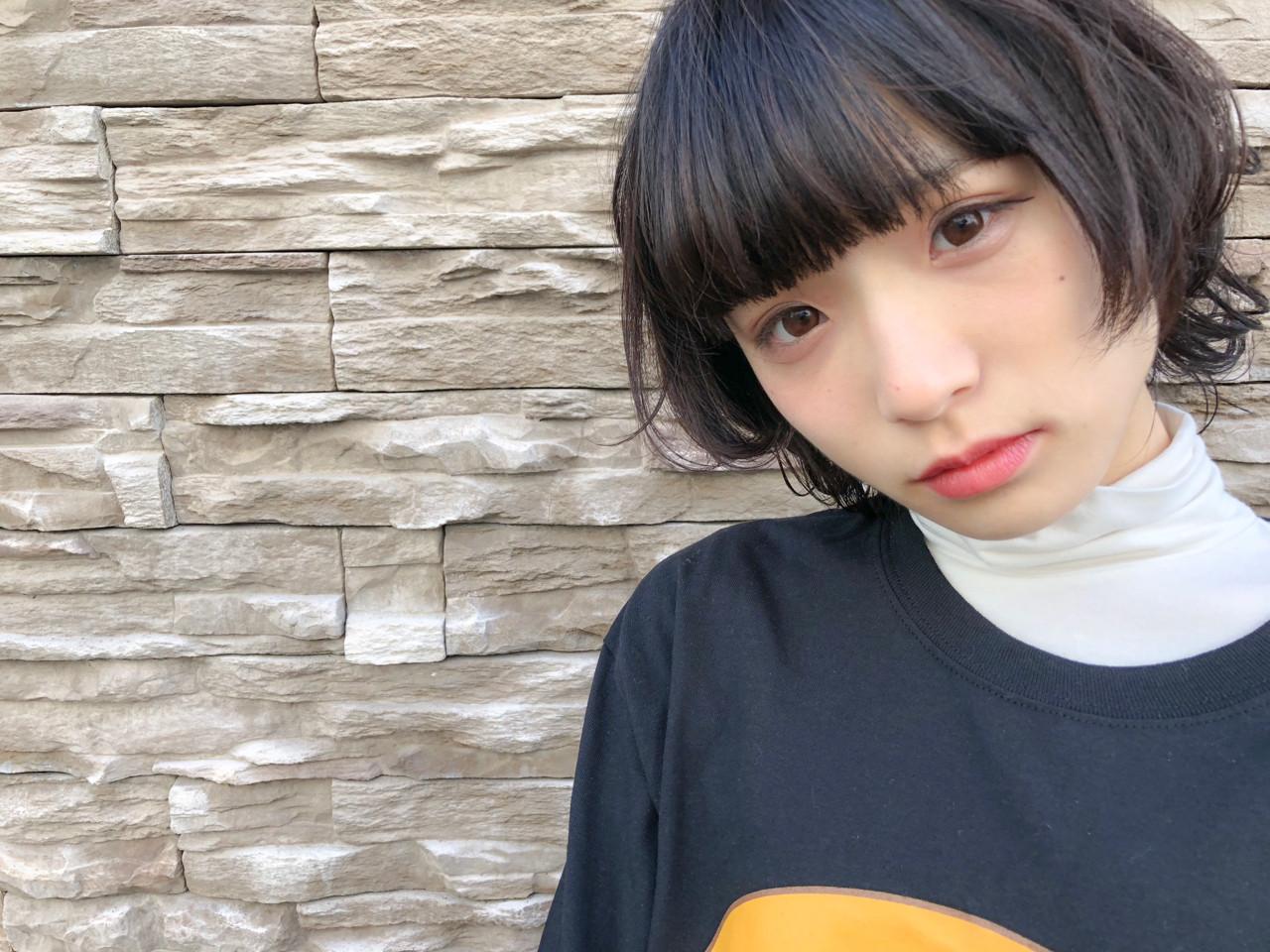 色気 ベリーショート ショート フェミニン ヘアスタイルや髪型の写真・画像