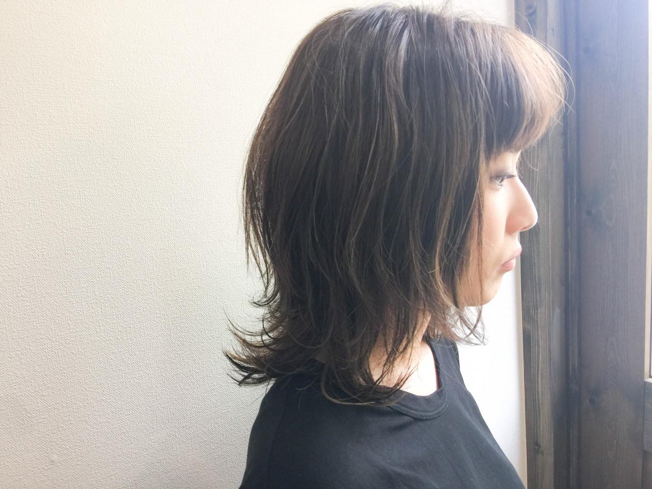 外国人風 ゆるふわ ミディアム ナチュラル ヘアスタイルや髪型の写真・画像