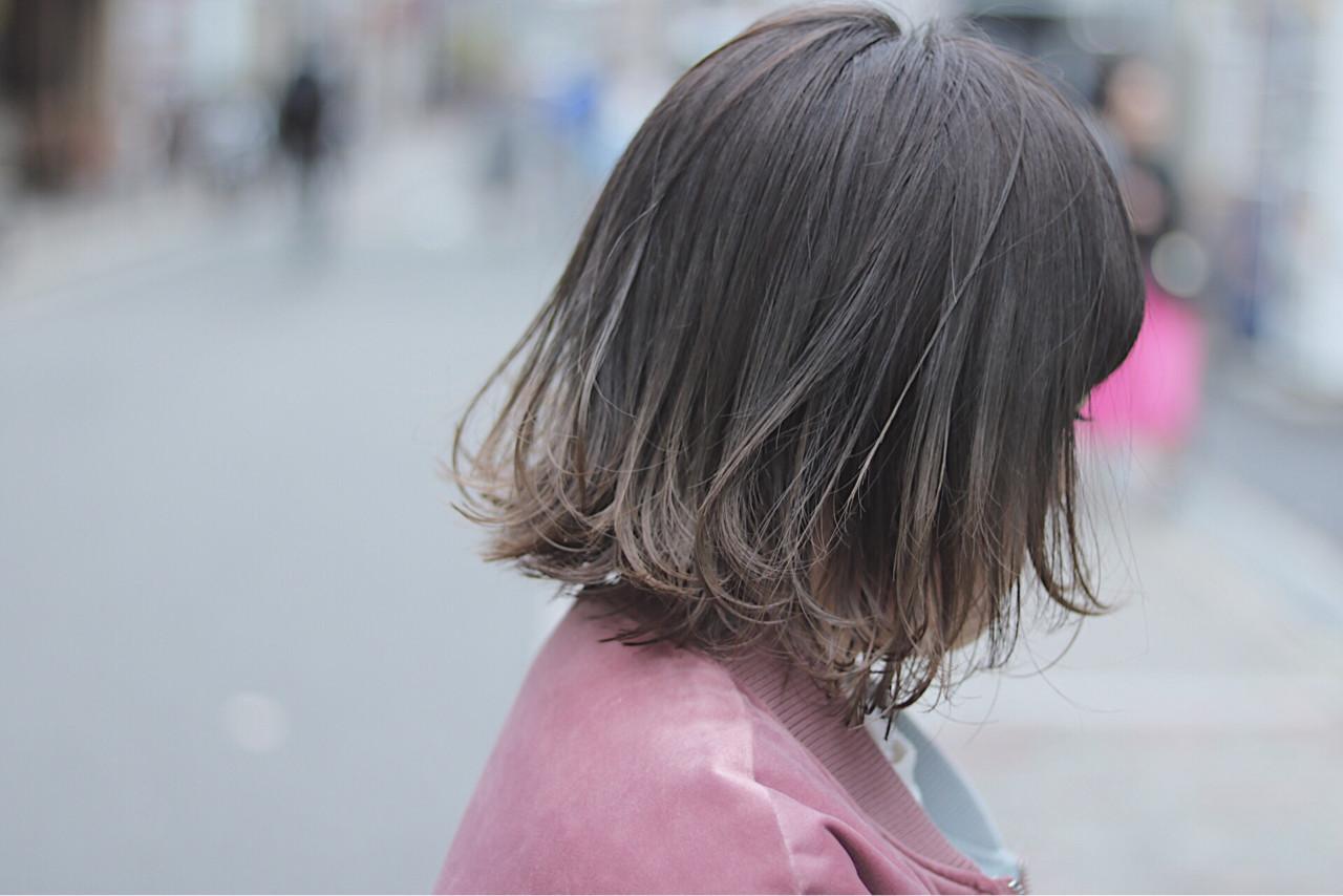 ボブ ナチュラル グラデーションカラー デート ヘアスタイルや髪型の写真・画像 | 首藤慎吾 / free-lance