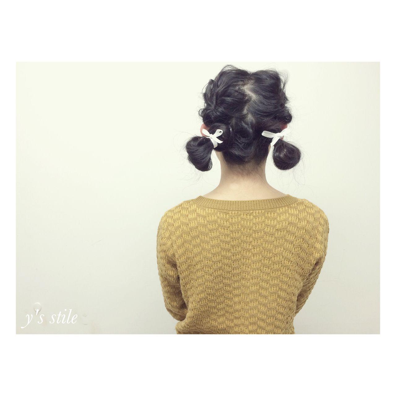 ガーリー 結婚式 モード ミディアム ヘアスタイルや髪型の写真・画像
