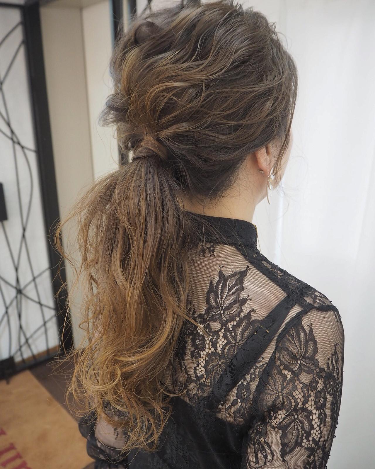 結婚式 デート 簡単ヘアアレンジ ナチュラル ヘアスタイルや髪型の写真・画像 | 宮迫 真美 / airfeel