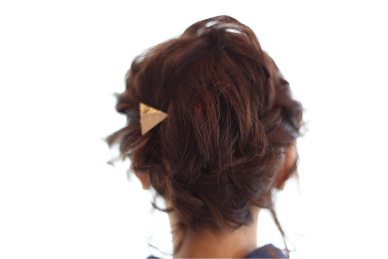 ボブ ヘアアレンジ 編み込み ナチュラル ヘアスタイルや髪型の写真・画像