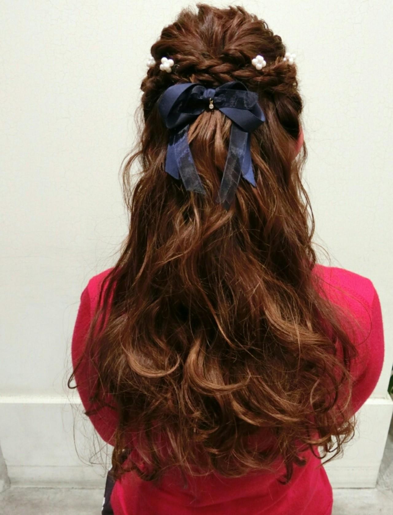 ヘアアレンジ ゆるふわ 簡単ヘアアレンジ ロング ヘアスタイルや髪型の写真・画像   まりえ / 花やの前の美容室