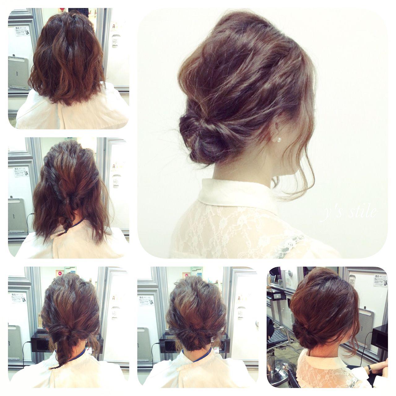 簡単ヘアアレンジ 結婚式 ストリート アップスタイル ヘアスタイルや髪型の写真・画像   YUJI / LIICHI / LIICHI (リイチ)