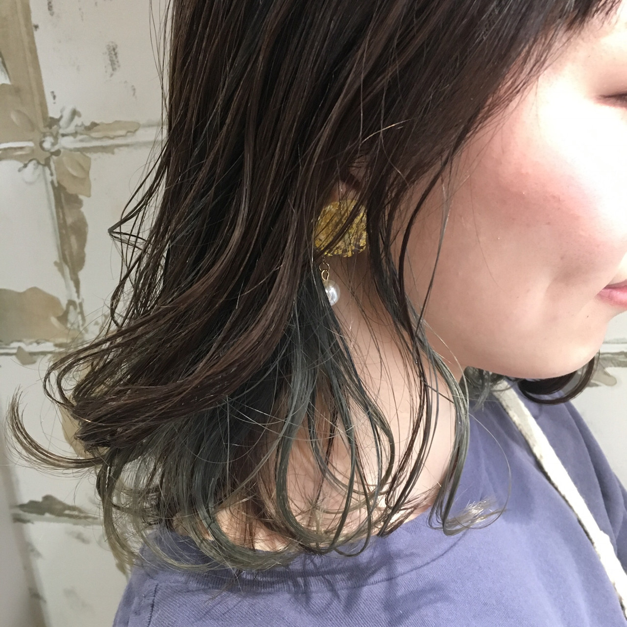 グレージュ インナーカラー ストリート ボブ ヘアスタイルや髪型の写真・画像 | 岡本 光太 / Acotto Labas