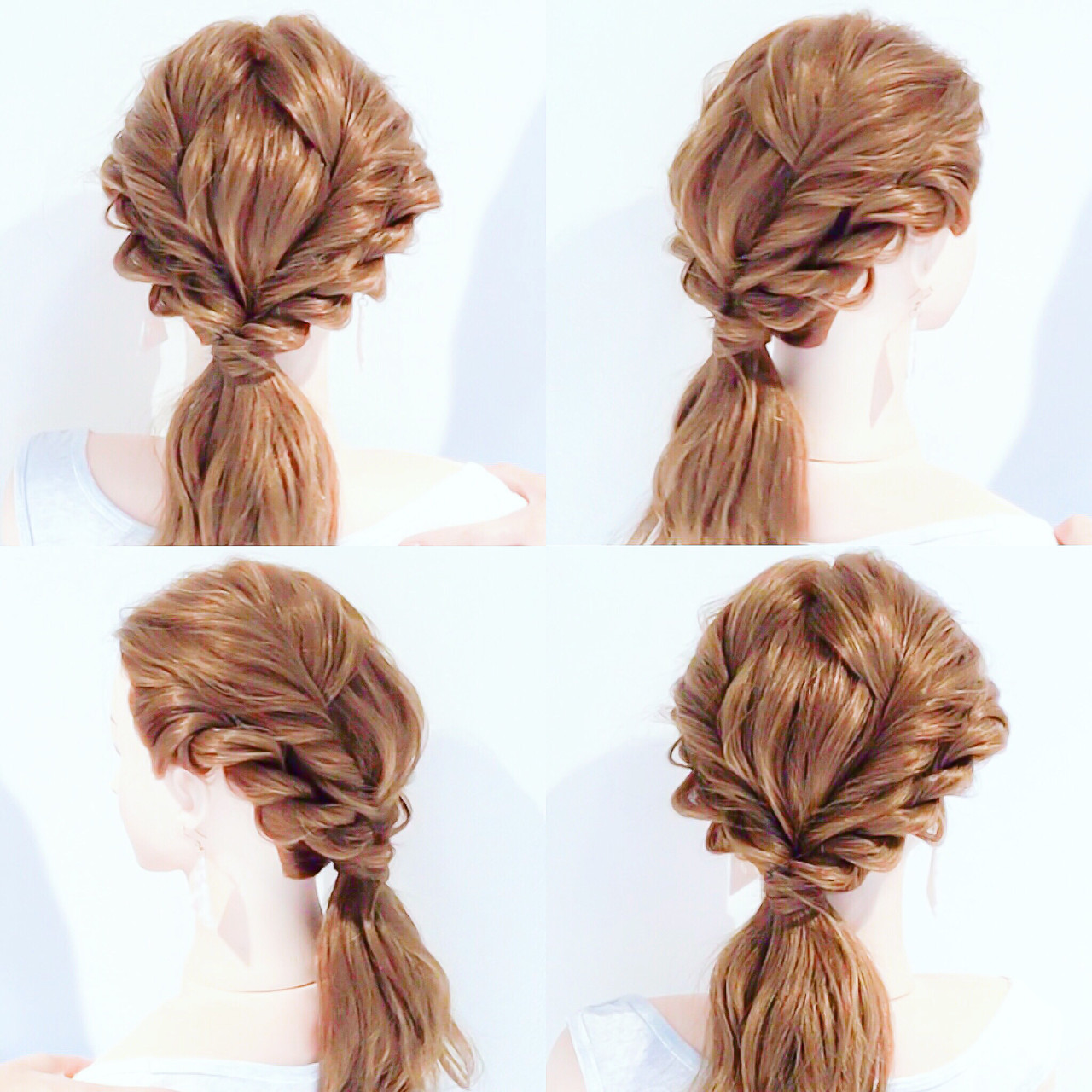 ロング フェミニン ローポニーテール ポニーテールアレンジ ヘアスタイルや髪型の写真・画像