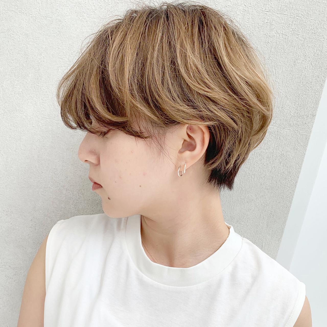 オフィス ショート モード デート ヘアスタイルや髪型の写真・画像