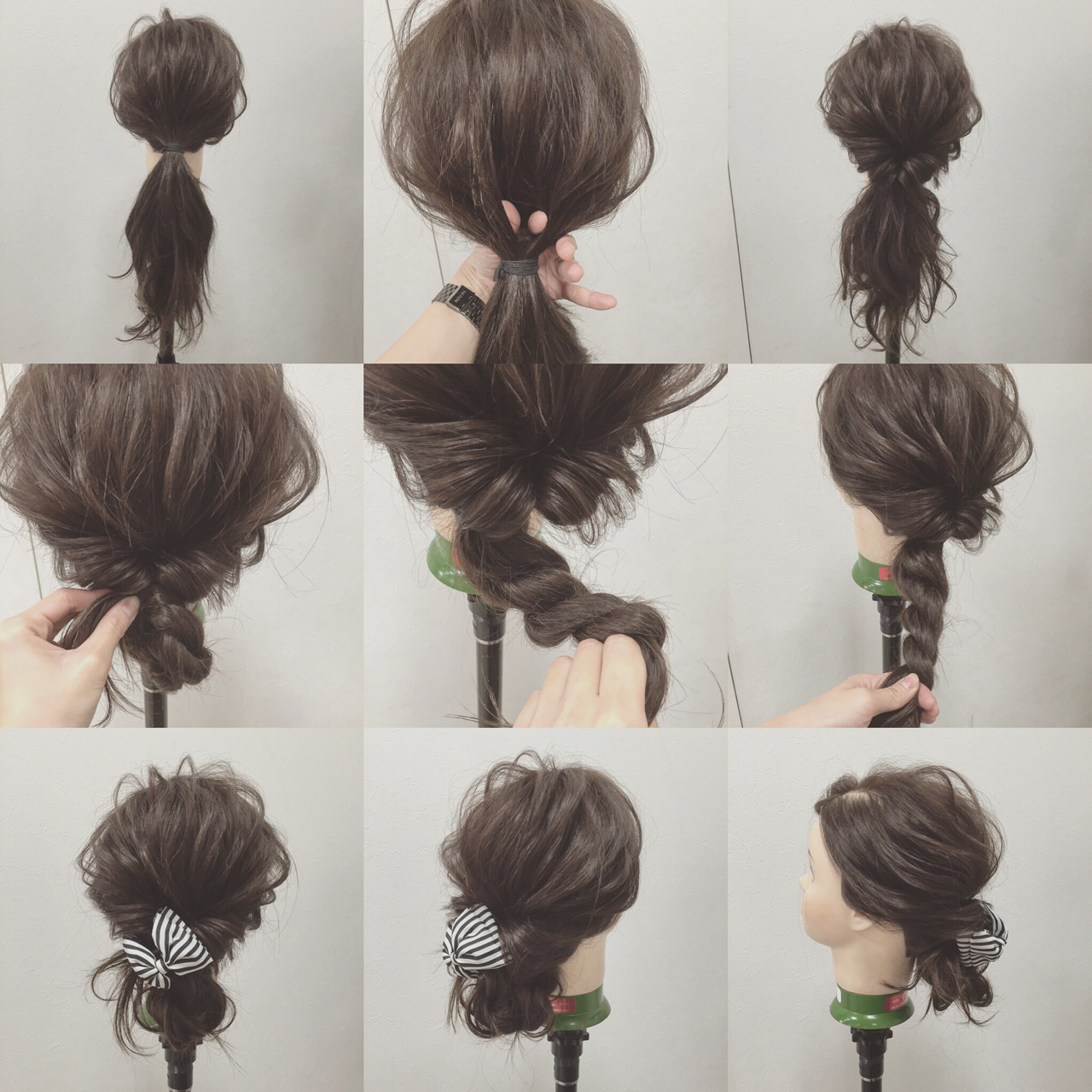 大人かわいい ショート 簡単ヘアアレンジ シニヨン ヘアスタイルや髪型の写真・画像