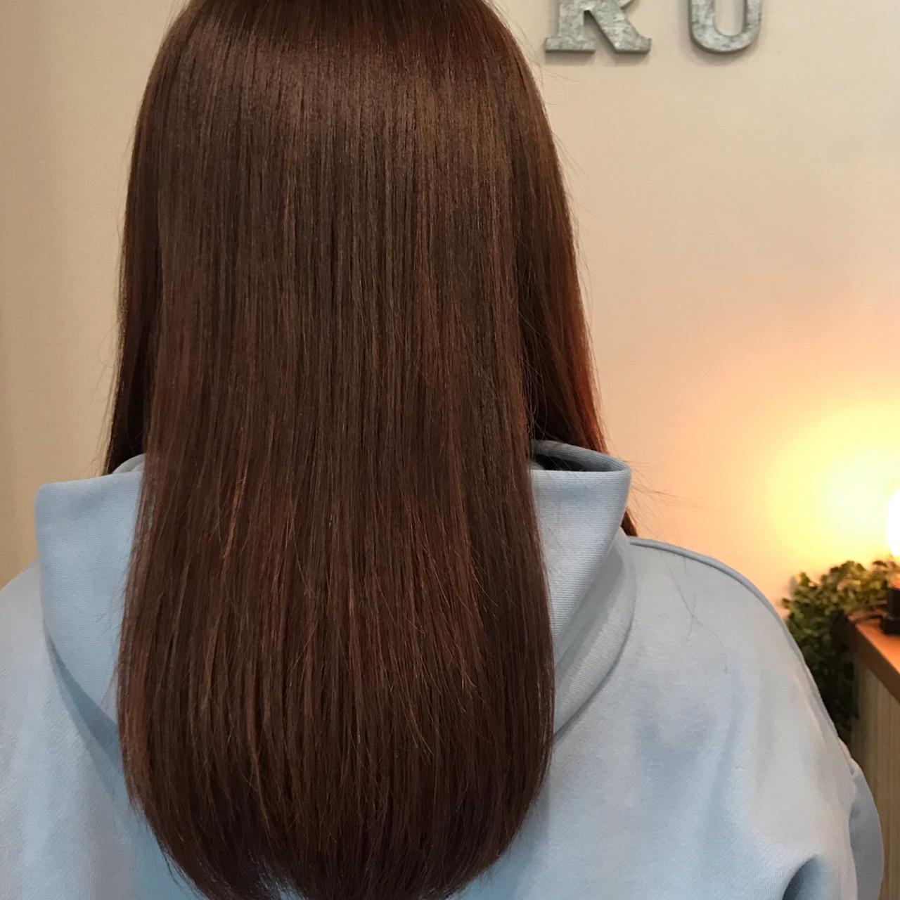 モード セミロング サラサラ 春スタイル ヘアスタイルや髪型の写真・画像