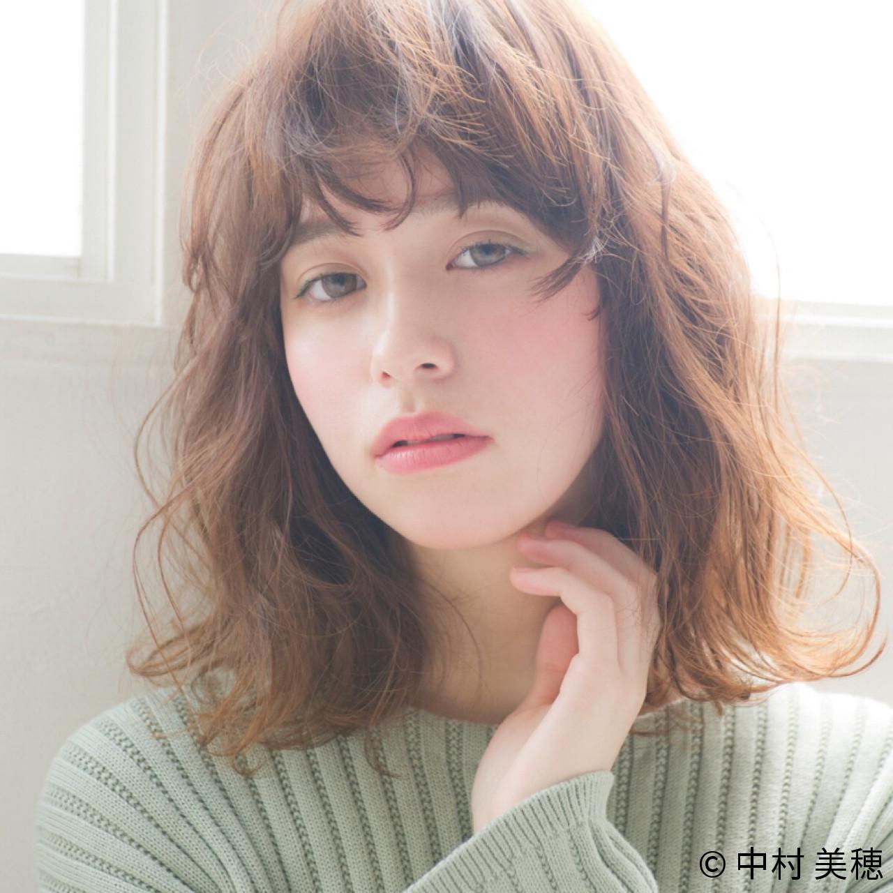 透明感 アンニュイ ニュアンス ミディアム ヘアスタイルや髪型の写真・画像 | 中村 美穂 / k-two