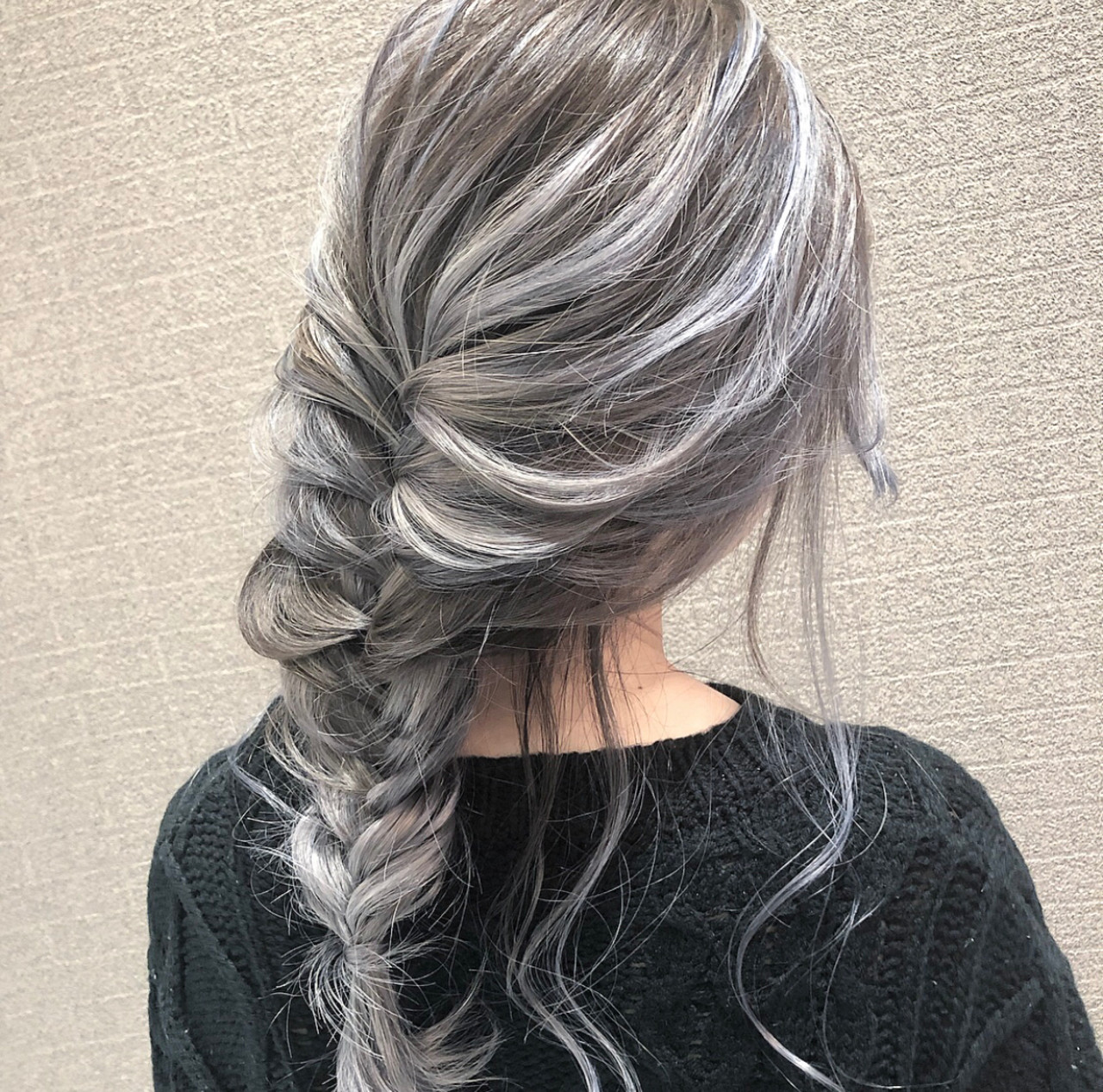 外国人風カラー 成人式 ヘアアレンジ ミディアム ヘアスタイルや髪型の写真・画像