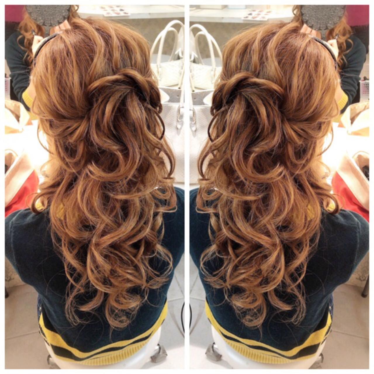 ロング 簡単ヘアアレンジ ヘアアレンジ 浴衣ヘア ヘアスタイルや髪型の写真・画像 | amico/佐藤 友理 / AMICO