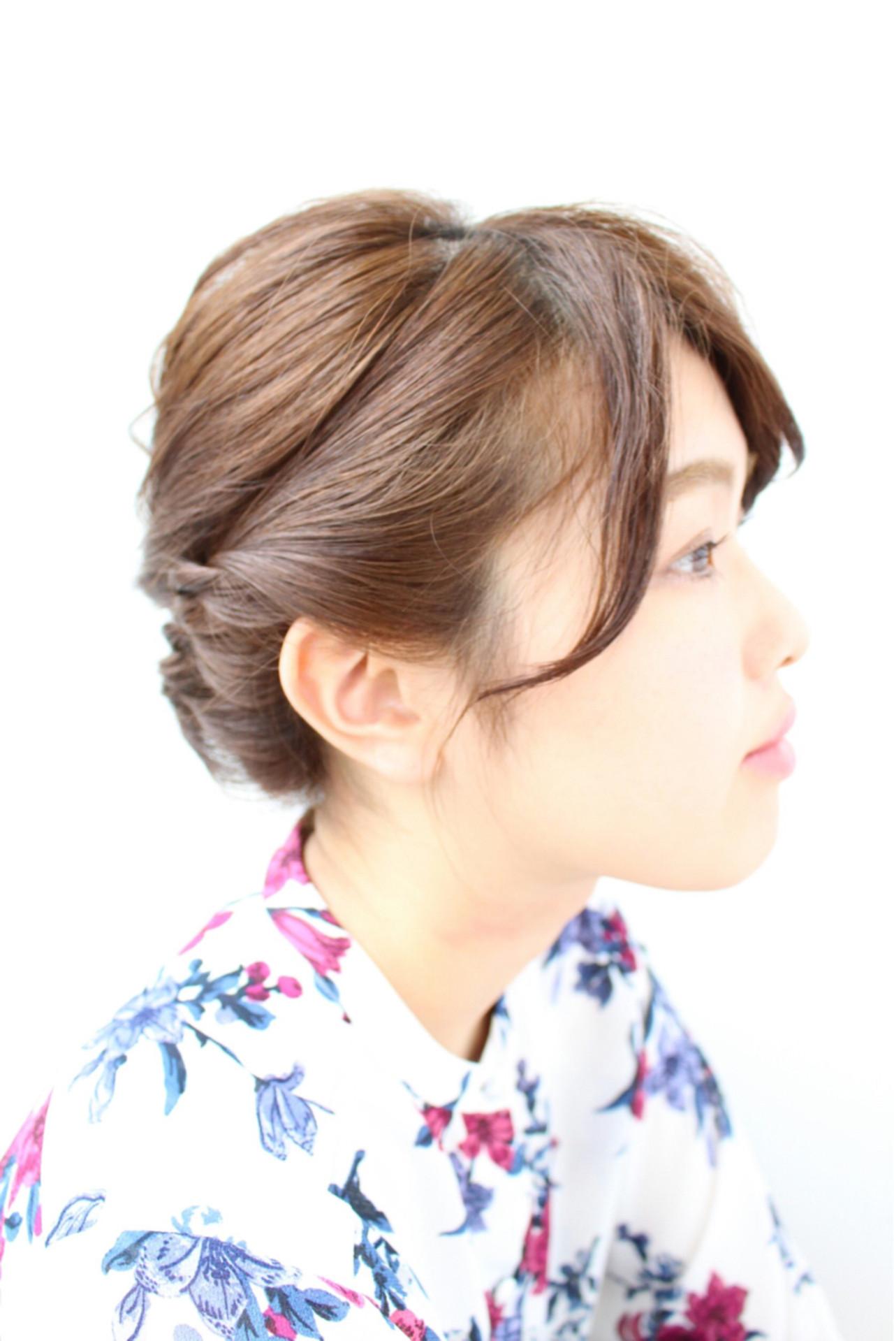 ボブ 結婚式 ヘアアレンジ ナチュラル ヘアスタイルや髪型の写真・画像 | 三上 奈巳 / Spin hair 烏丸店