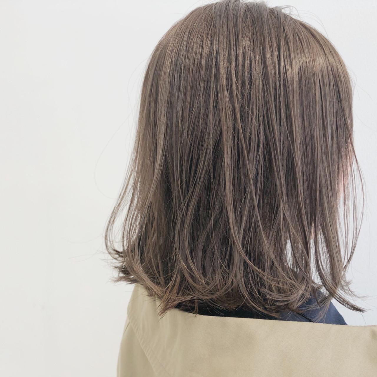 ブリーチなし ガーリー ロブ 透明感 ヘアスタイルや髪型の写真・画像 | 中島 潮里 / whyte / whyte