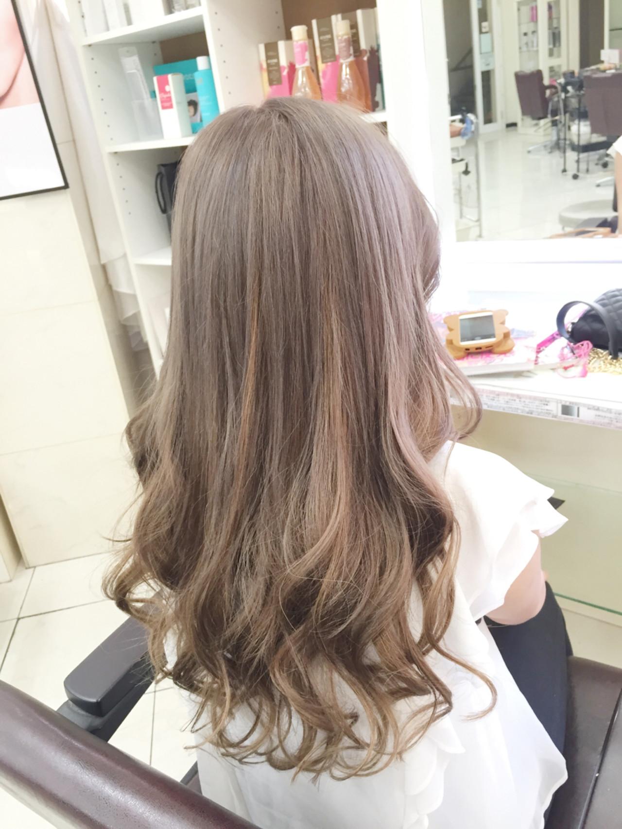 エクステ ブリーチ セミロング 外国人風カラー ヘアスタイルや髪型の写真・画像