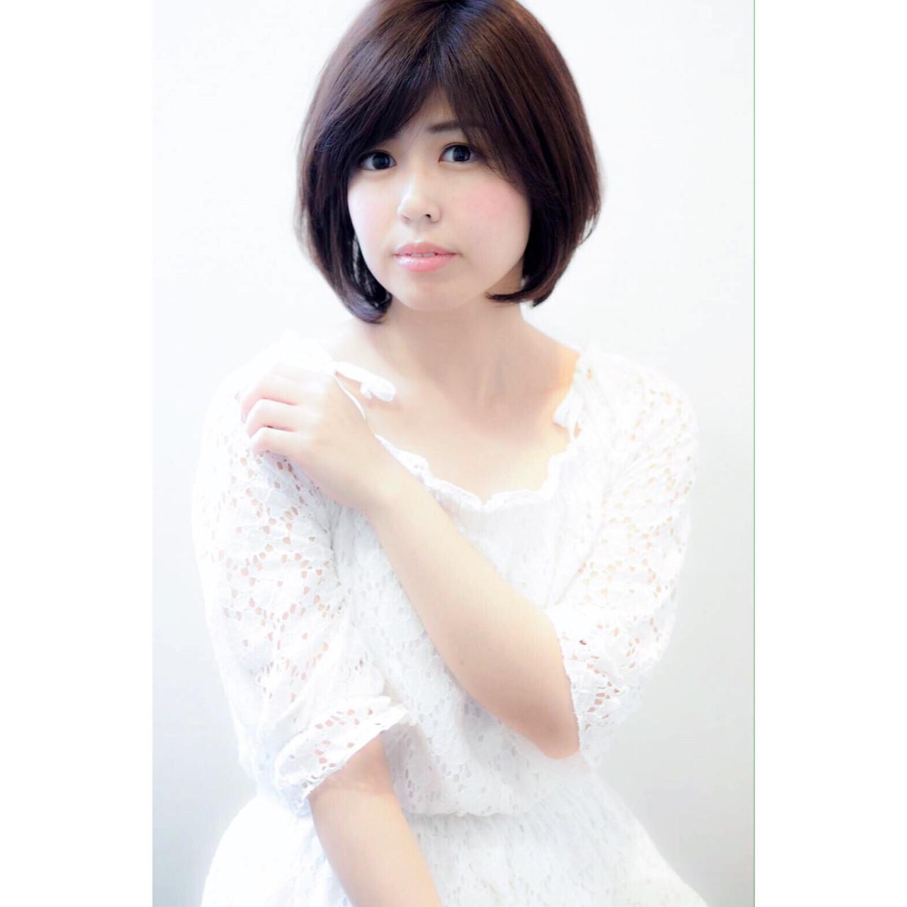 大人女子 抜け感 ショート ナチュラル ヘアスタイルや髪型の写真・画像 | のりちゃん /