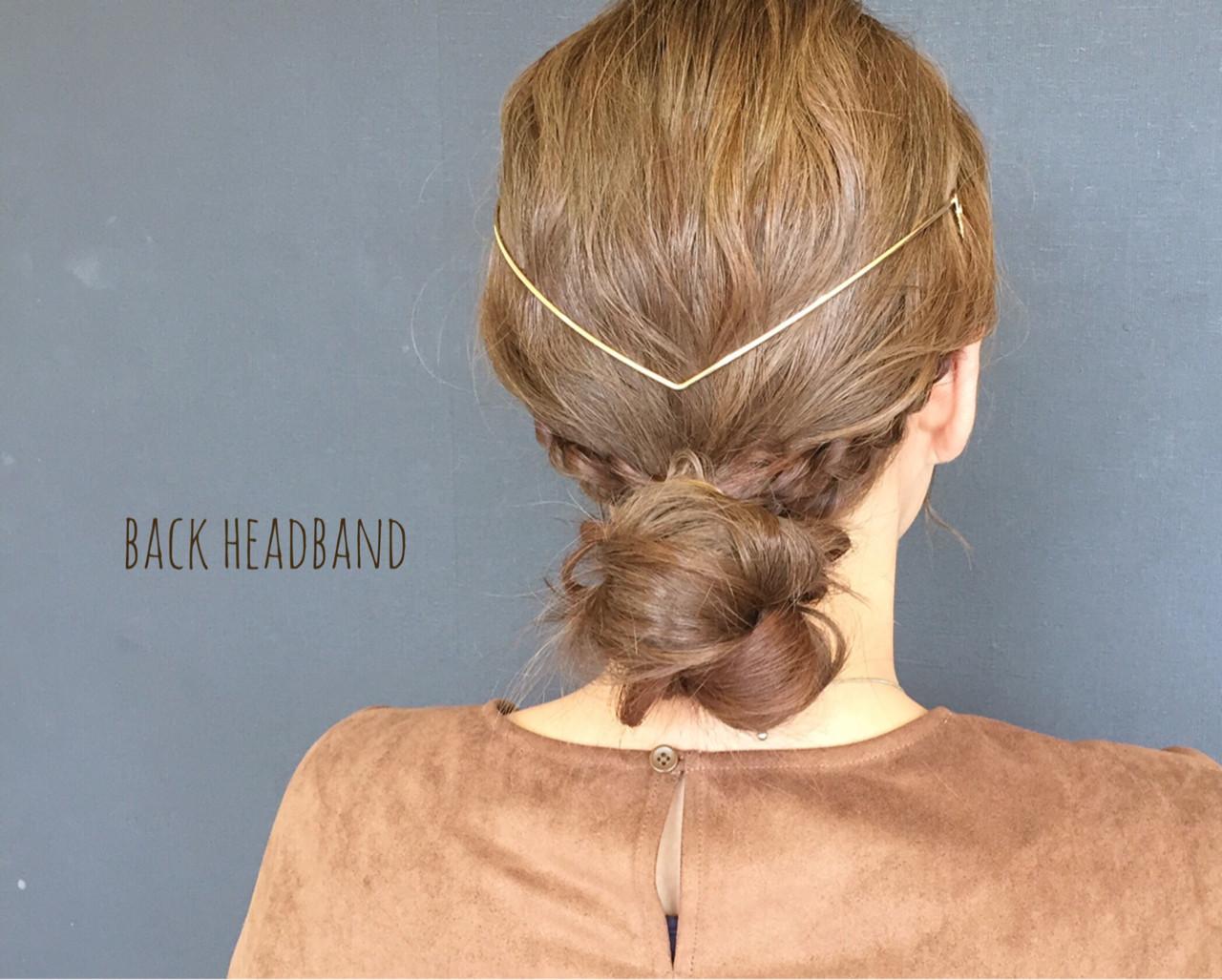 大人女子 三つ編み イルミナカラー セミロング ヘアスタイルや髪型の写真・画像