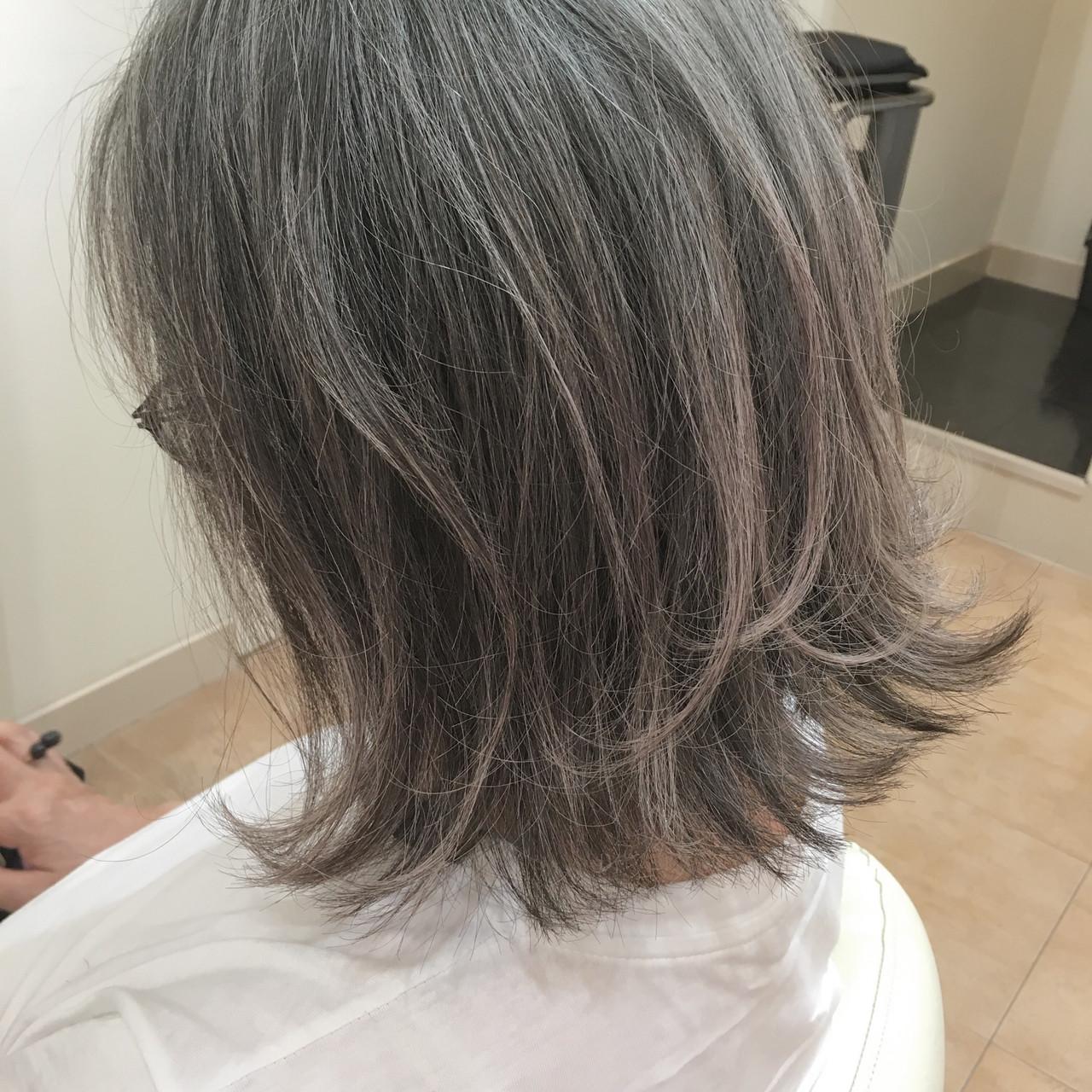 外ハネボブ 40代 大人ヘアスタイル 50代 ヘアスタイルや髪型の写真・画像   平本 詠一 / fabris