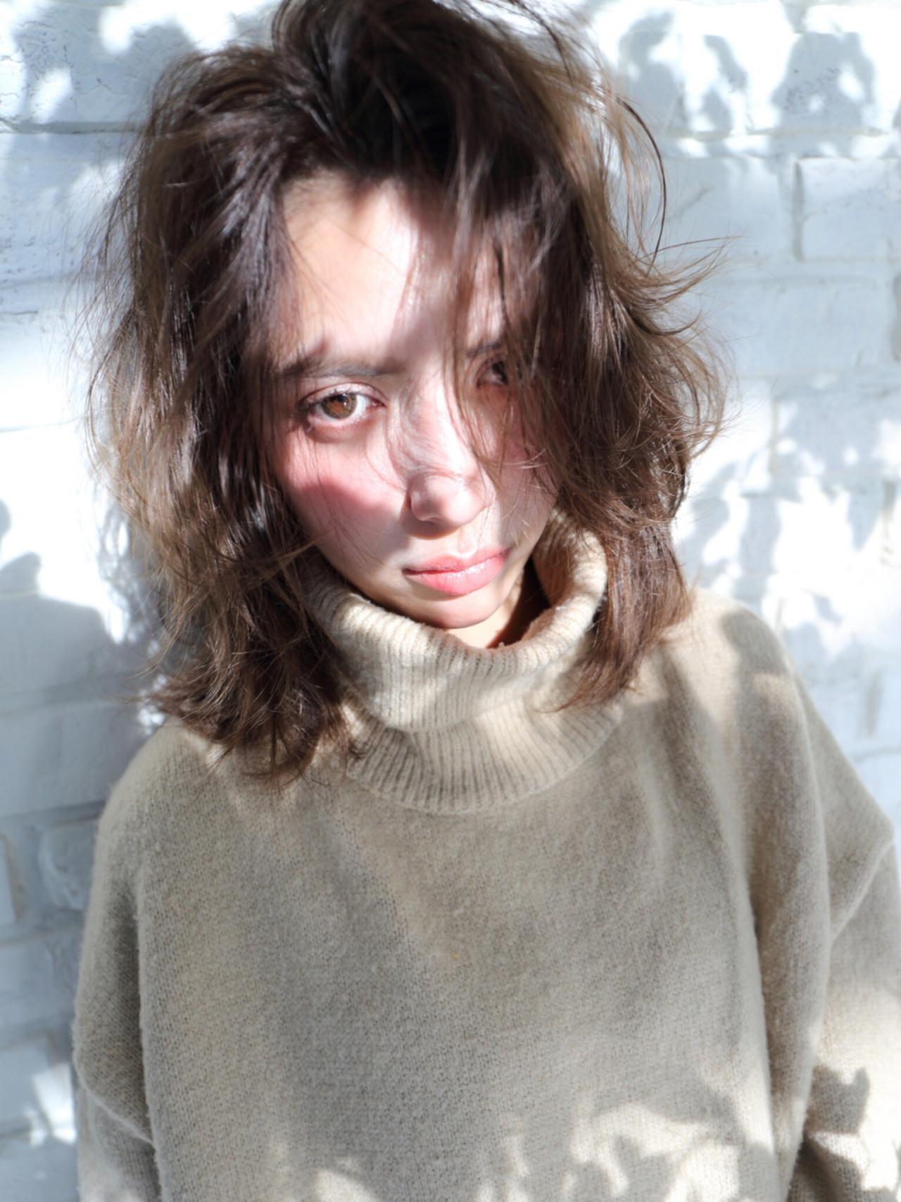 アッシュ ゆるふわ ガーリー ミディアム ヘアスタイルや髪型の写真・画像   imai yutaro / Aj