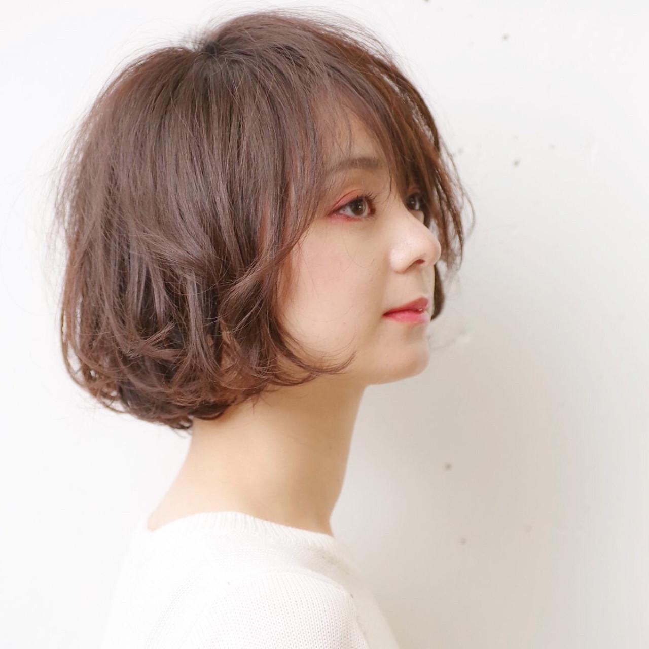 ヘアアレンジ デート 抜け感 ボブ ヘアスタイルや髪型の写真・画像 | hair salon ing 一柳 紀子 / hair salon ing (ヘア サロン イング)