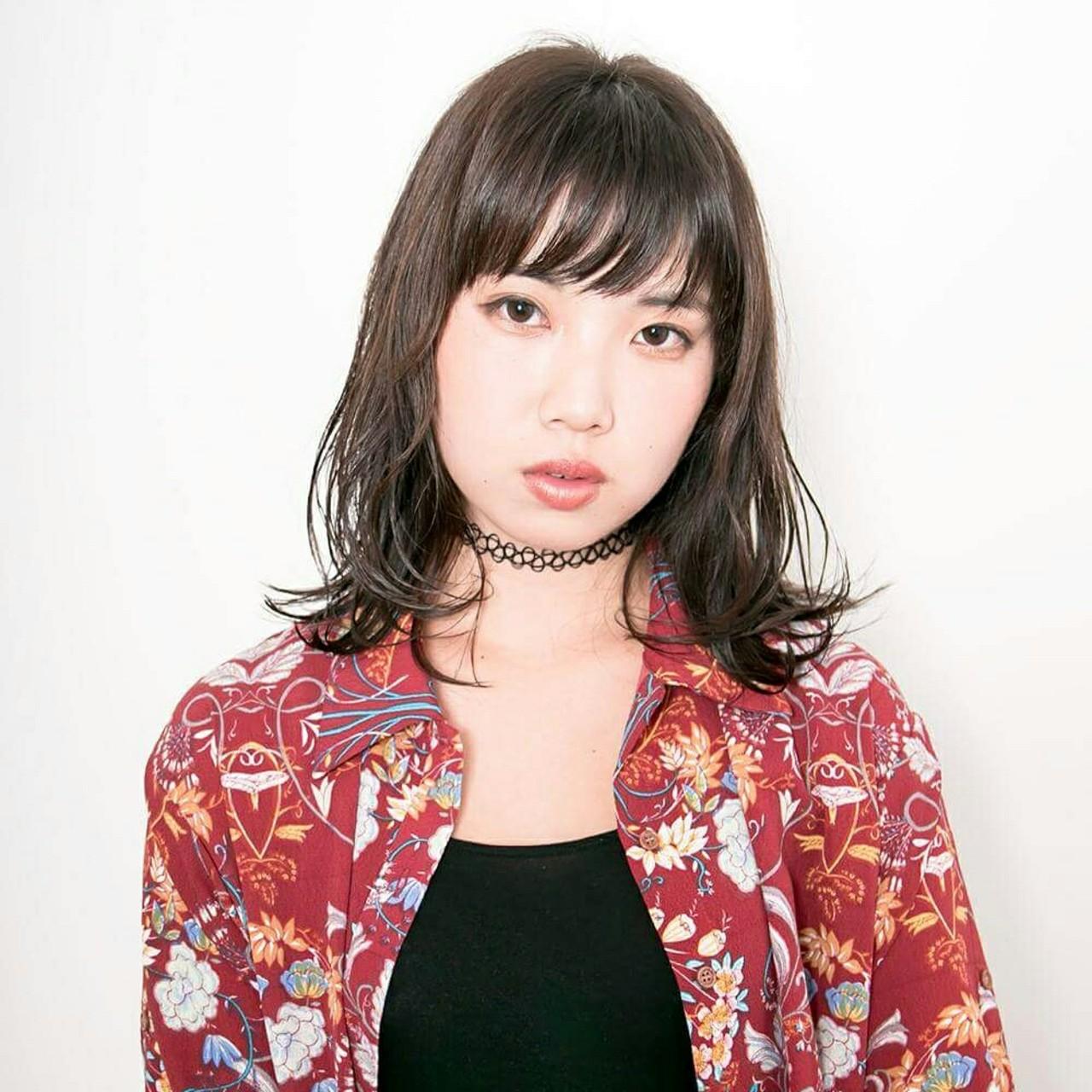 ストリート 大人かわいい ミディアム 色気 ヘアスタイルや髪型の写真・画像 | Well 中山 亮二 / Well Hair Make Studio