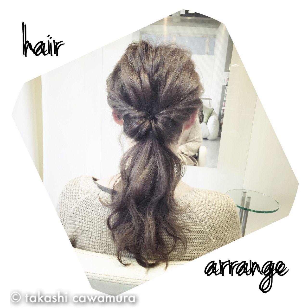 ヘアアレンジ コンサバ モテ髪 簡単ヘアアレンジ ヘアスタイルや髪型の写真・画像 | takashi cawamura / HAIR & MAKE•UP TAXI