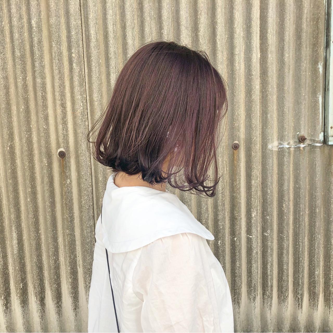 フェミニン ピンク ガーリー 切りっぱなし ヘアスタイルや髪型の写真・画像