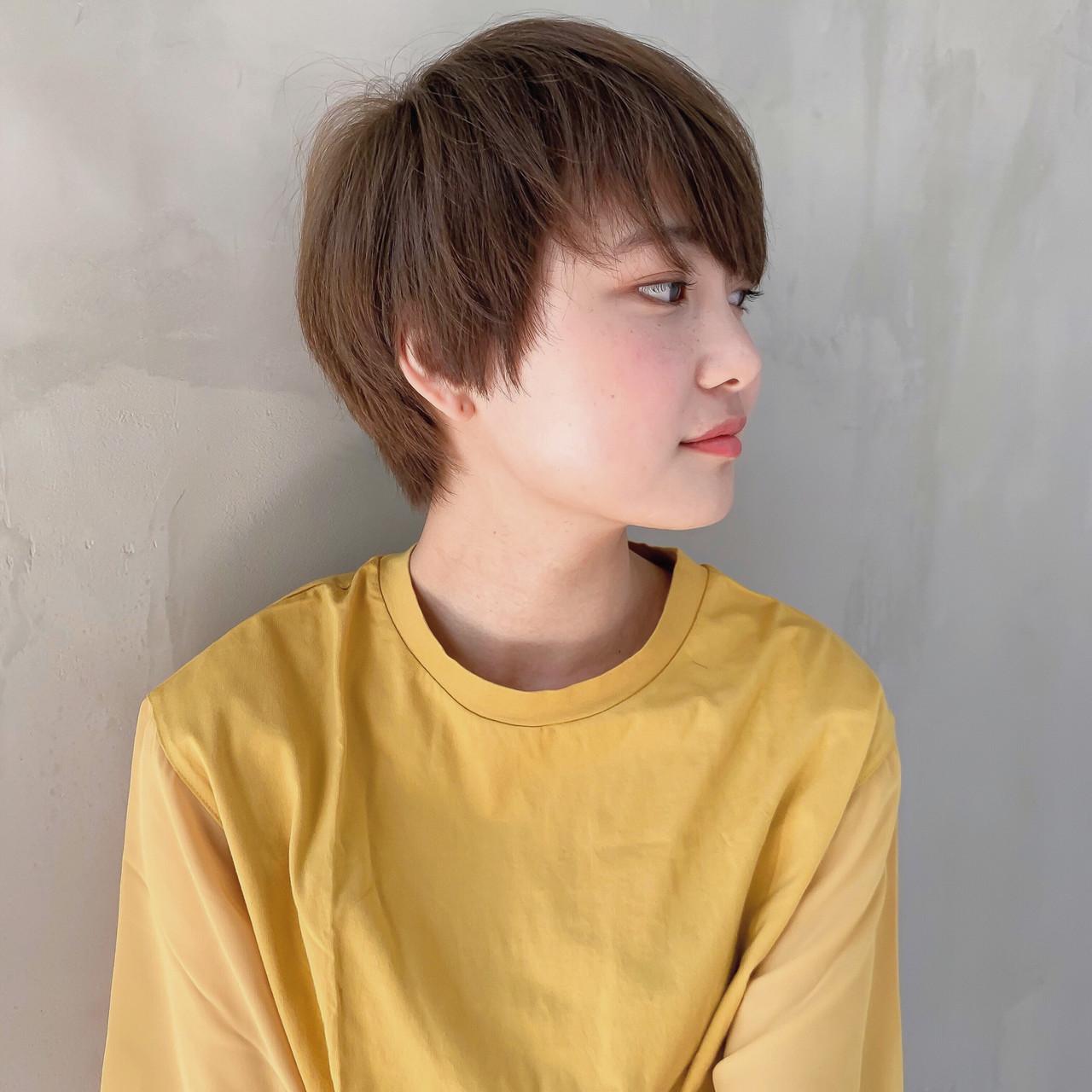 ショート コスメ・メイク ヘアカラー メイク ヘアスタイルや髪型の写真・画像