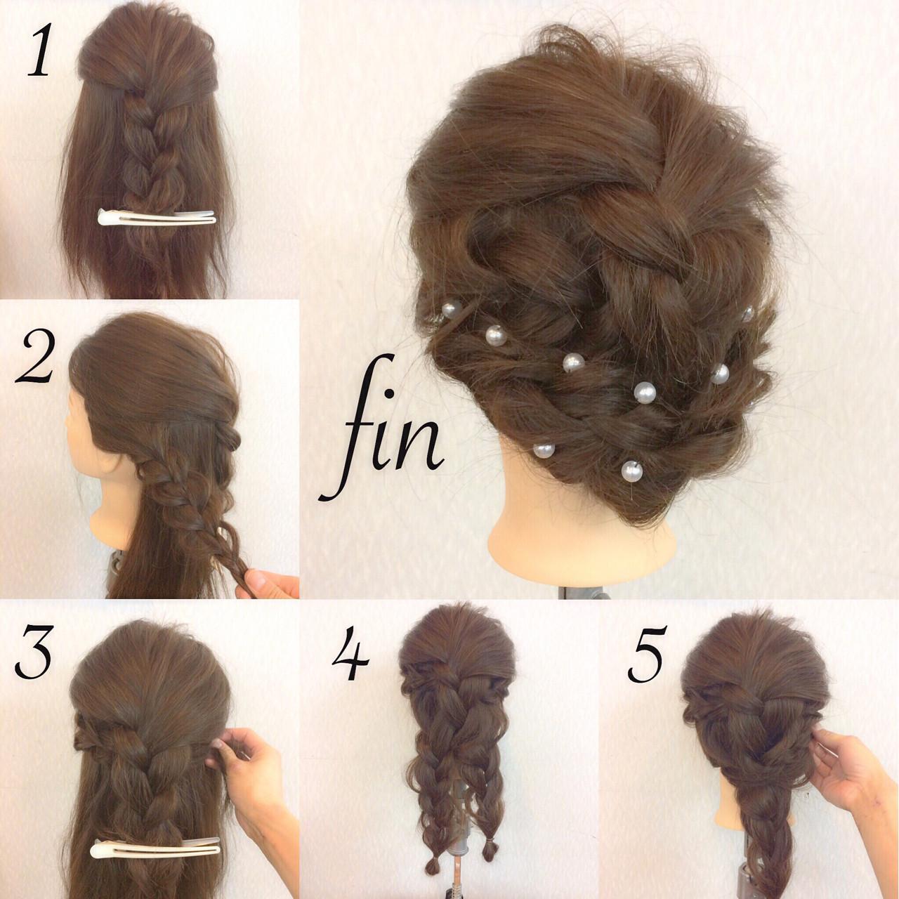 結婚式 フェミニン ヘアアレンジ ロング ヘアスタイルや髪型の写真・画像 | ヤマナカサトル / DIOR of Hair