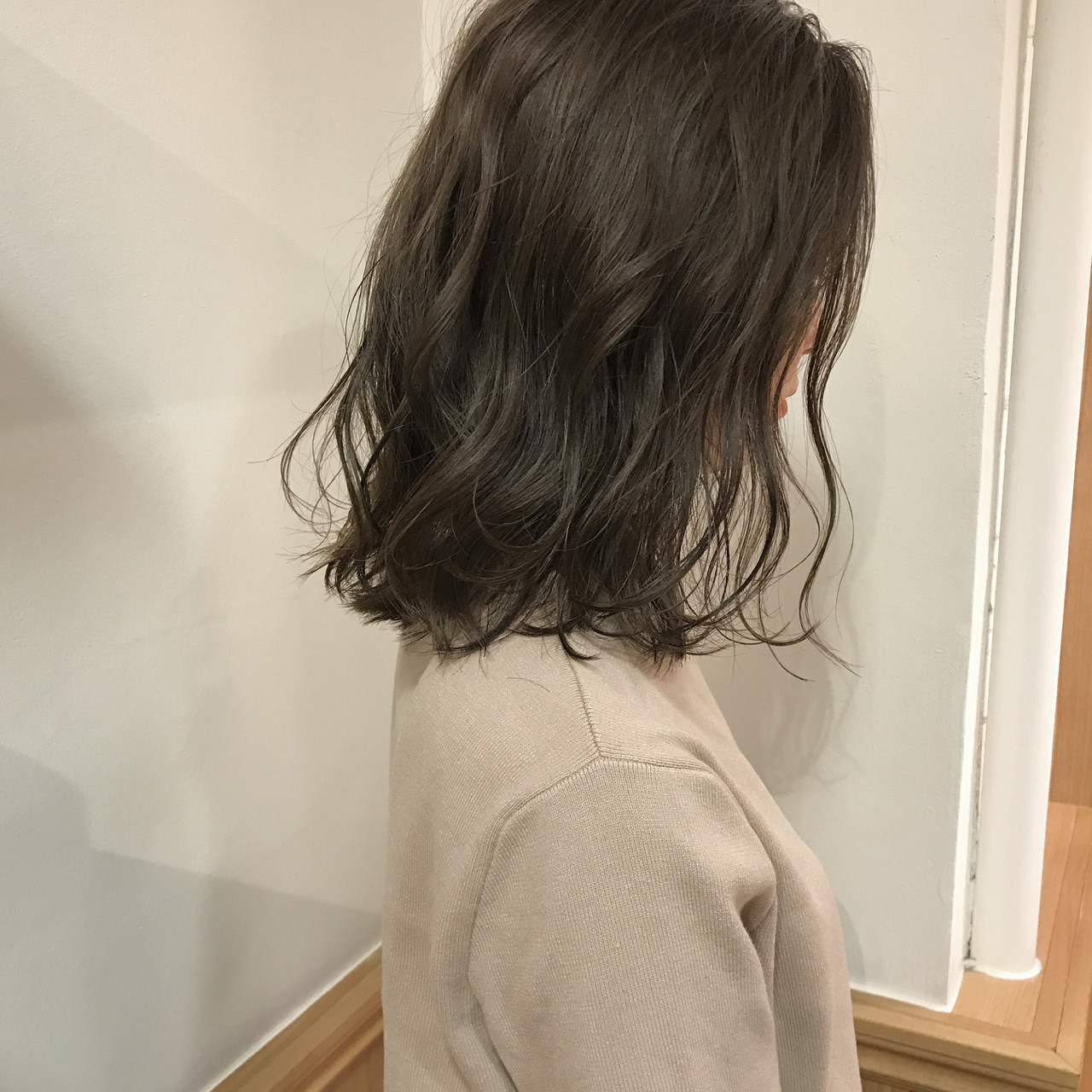 ロブ リラックス ボブ 切りっぱなし ヘアスタイルや髪型の写真・画像 | KENTO.NOESALON / NOE SALON