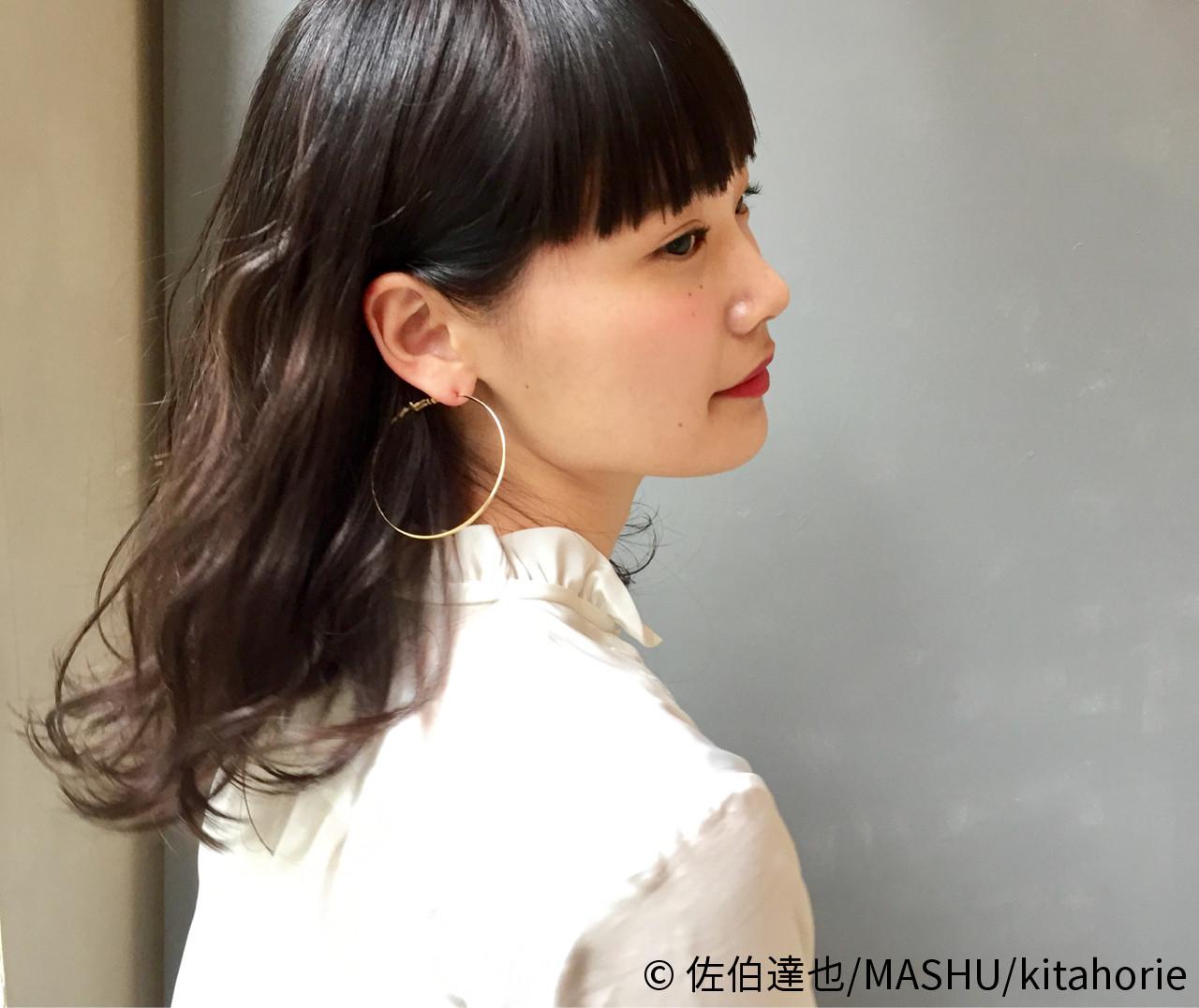 黒髪 大人かわいい モード ゆるふわ ヘアスタイルや髪型の写真・画像 | 佐伯達也/MASHU/kitahorie / MASHU 北堀江店