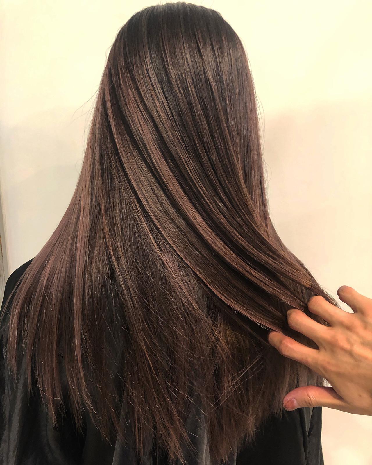 ハイライト グラデーションカラー ロング バレイヤージュ ヘアスタイルや髪型の写真・画像 | 今西優 / scissors