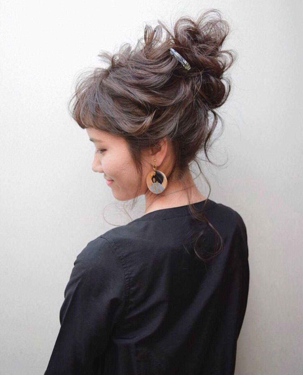 結婚式 簡単ヘアアレンジ ロング 黒髪 ヘアスタイルや髪型の写真・画像 | 三木 奨太 / hair set salon  IRIS