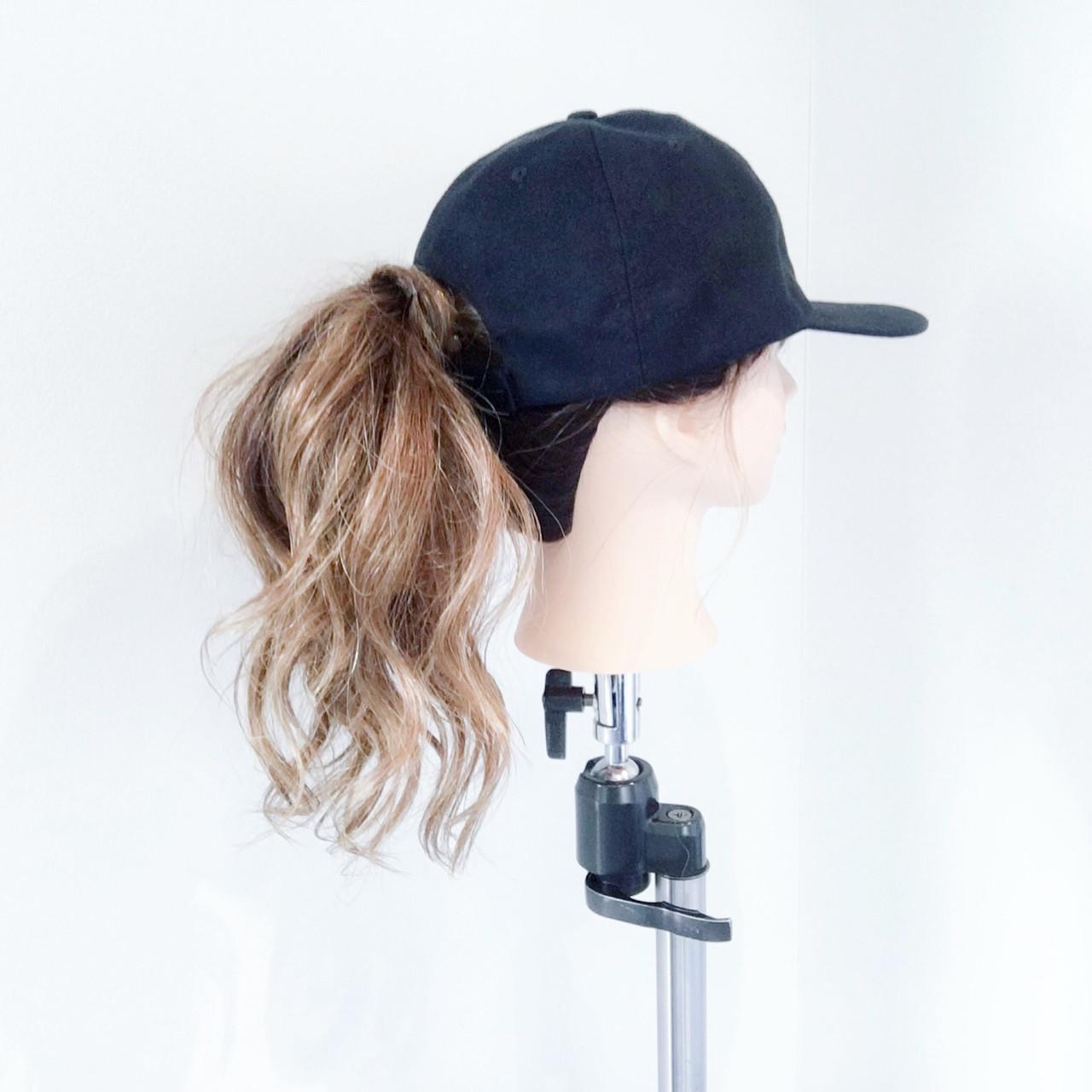ポニーテール ロング ストリート ヘアアレンジ ヘアスタイルや髪型の写真・画像