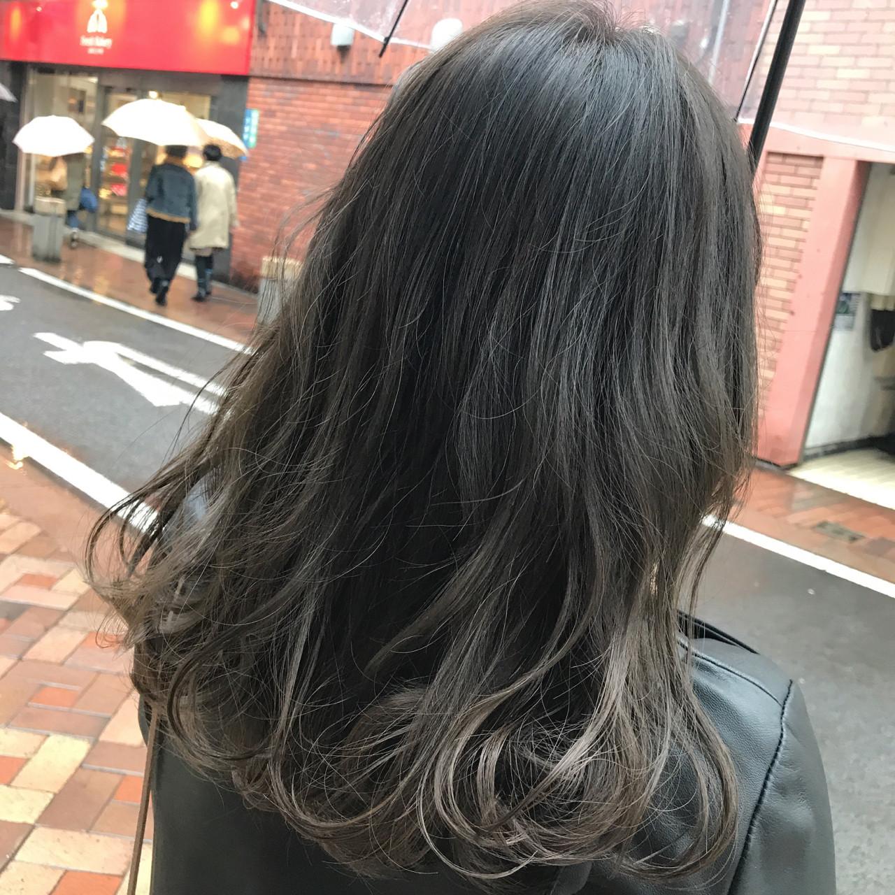 外国人風カラー ナチュラル グレージュ 暗髪 ヘアスタイルや髪型の写真・画像 | 桝田 由佳 / フリーランスでしてます!お電話のご予約不可です