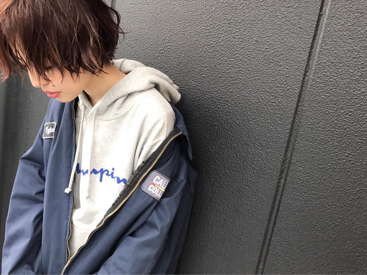 リラックス 抜け感 ピンク かっこいい ヘアスタイルや髪型の写真・画像 | Nakamura Gota / noah  parfait 銀座
