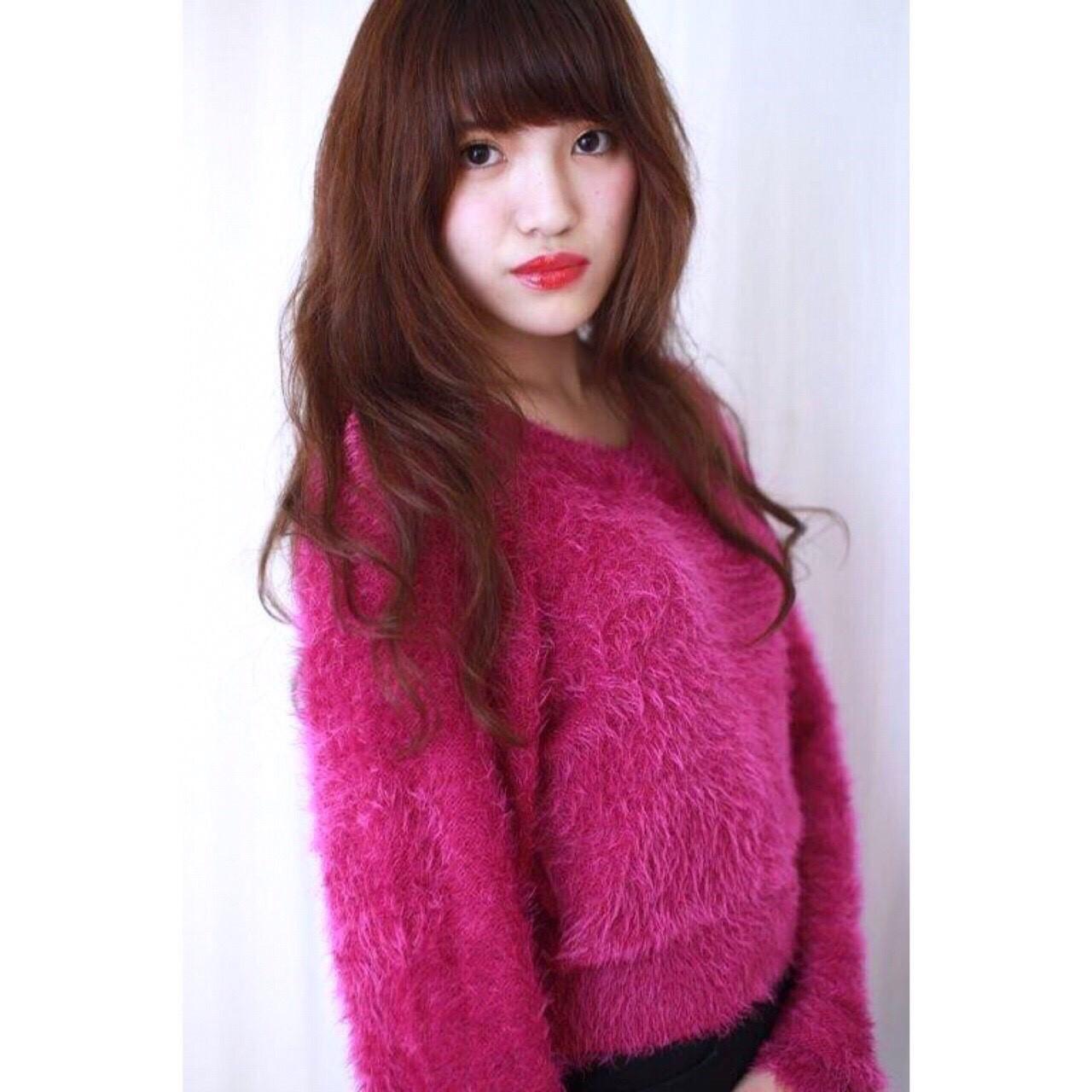 ロング ラフ パーマ ナチュラル ヘアスタイルや髪型の写真・画像 | Yumi Hiramatsu / Sourire Imaizumi【スーリール イマイズミ】