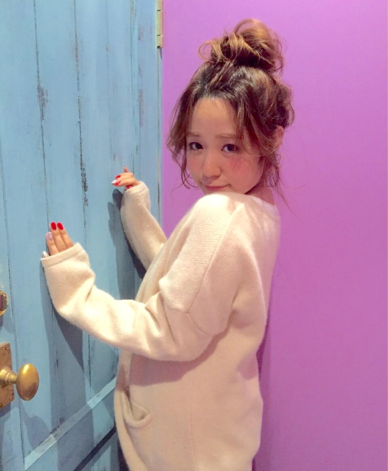 ハイライト ガーリー ミディアム ヘアアレンジ ヘアスタイルや髪型の写真・画像 | 設楽エリカ (shidara erika) /
