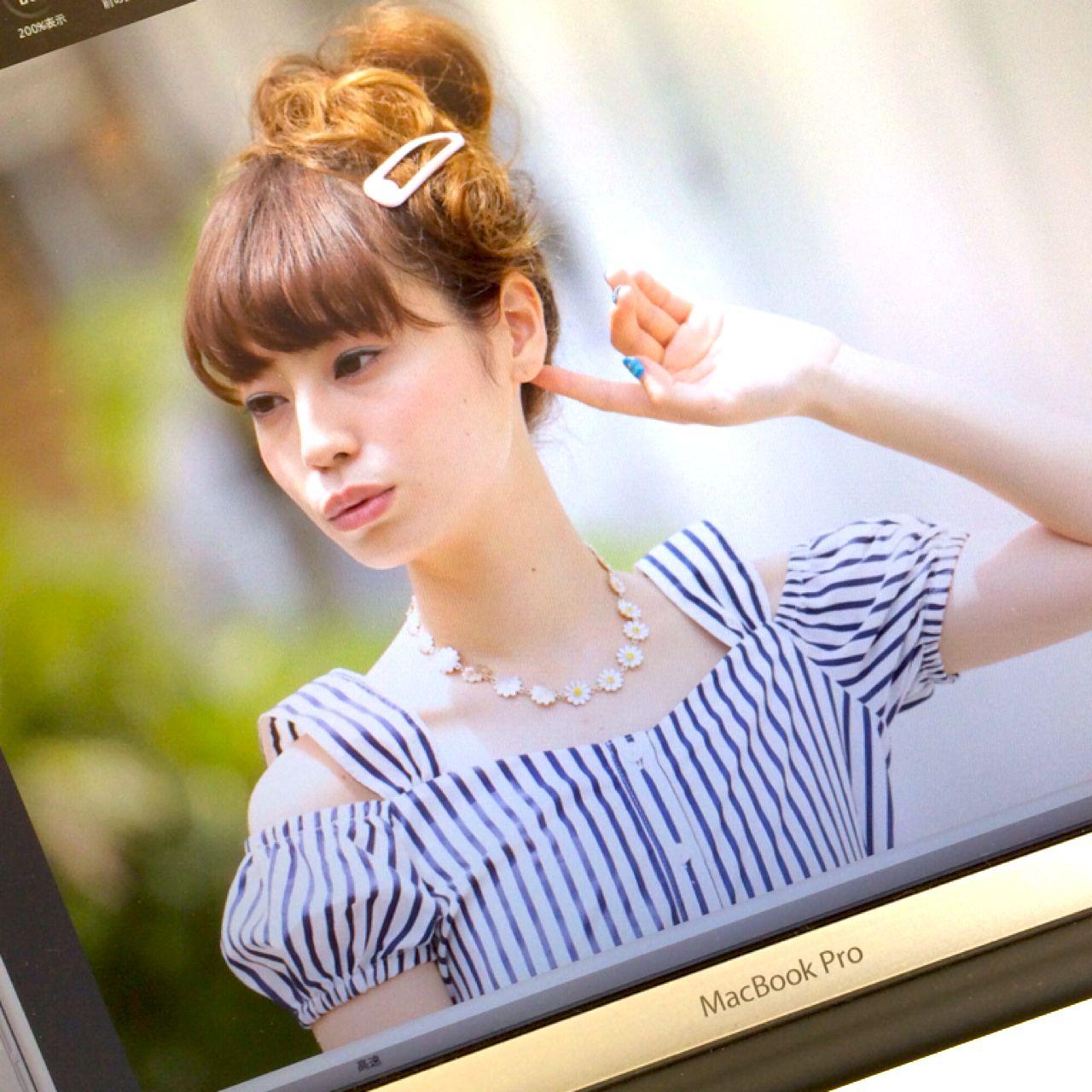 ヘアアレンジ お団子 ストリート ヘアスタイルや髪型の写真・画像
