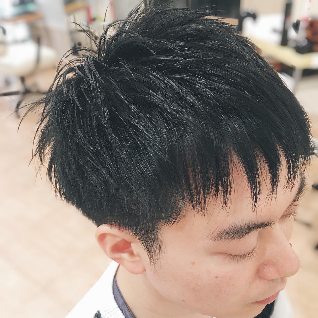ツーブロック 爽やか ショート 束感 ヘアスタイルや髪型の写真・画像   平本 詠一 / fabris