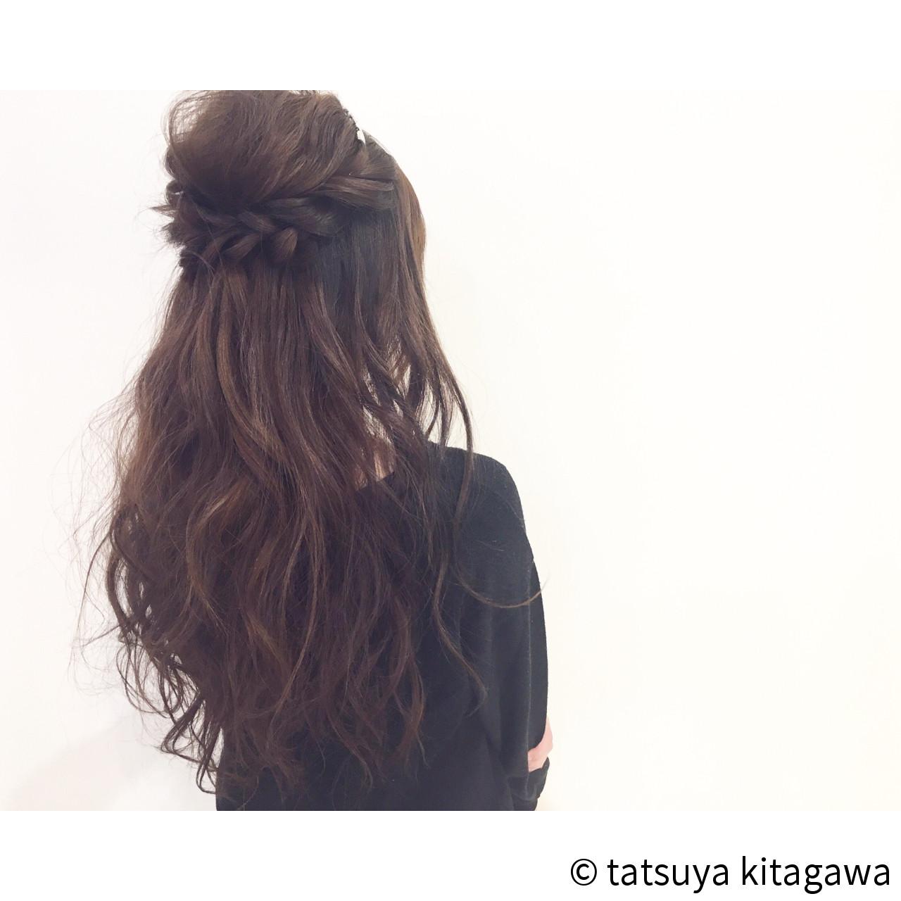エレガント ロング ヘアアレンジ ゆるふわ ヘアスタイルや髪型の写真・画像