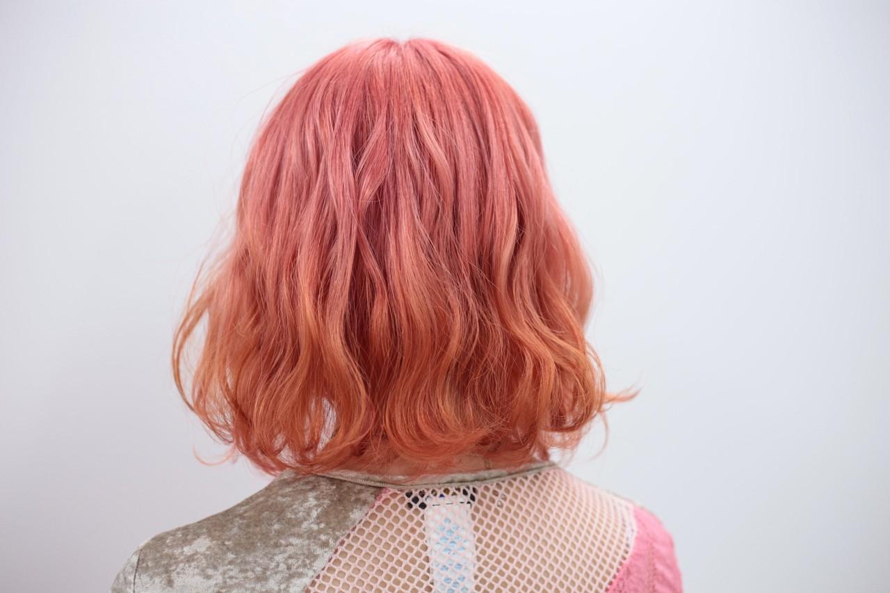 ピンク デート ダブルカラー ブリーチ ヘアスタイルや髪型の写真・画像 | kanata / CLLN hair design