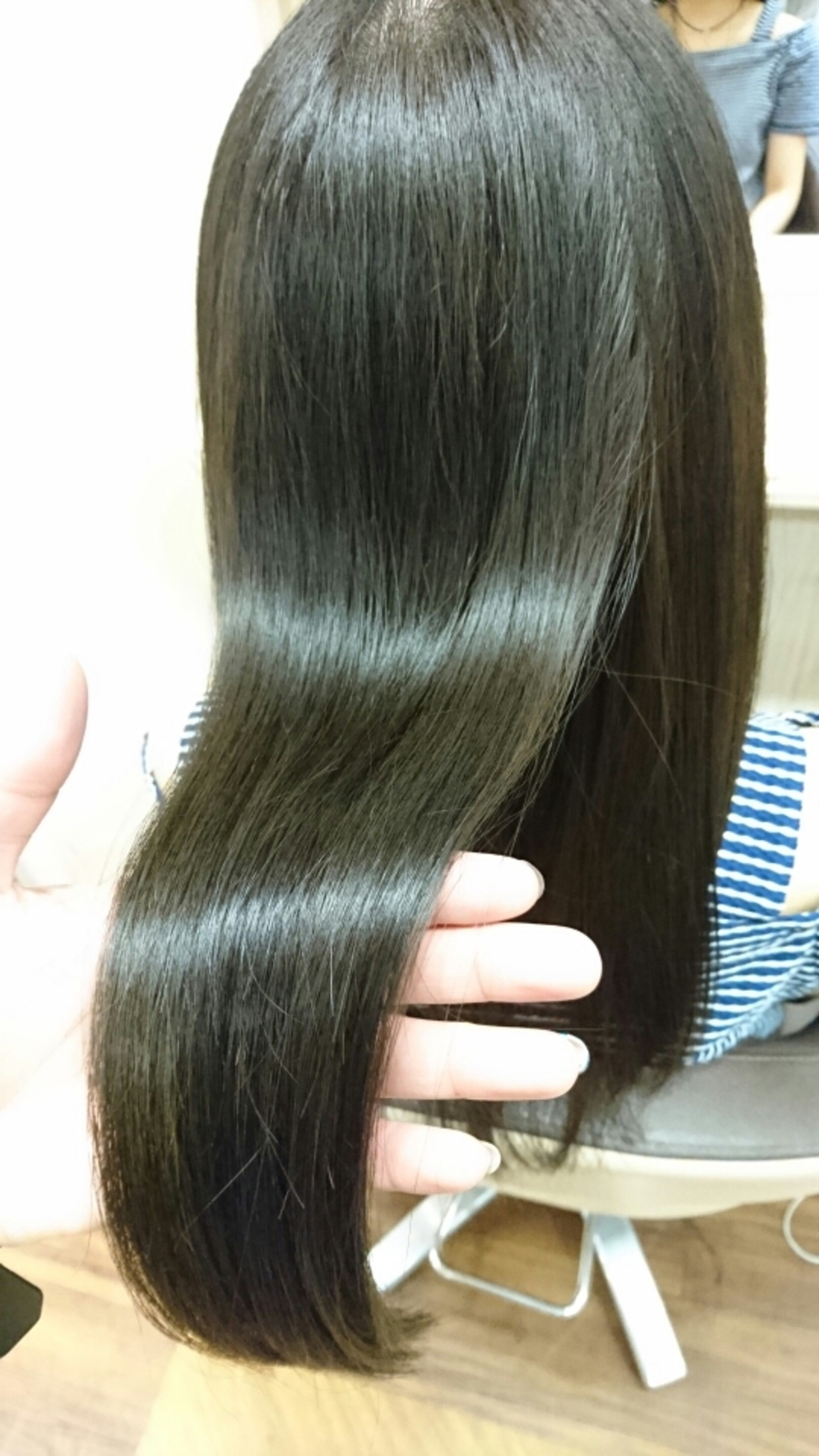 ロング 大人かわいい 暗髪 黒髪 ヘアスタイルや髪型の写真・画像