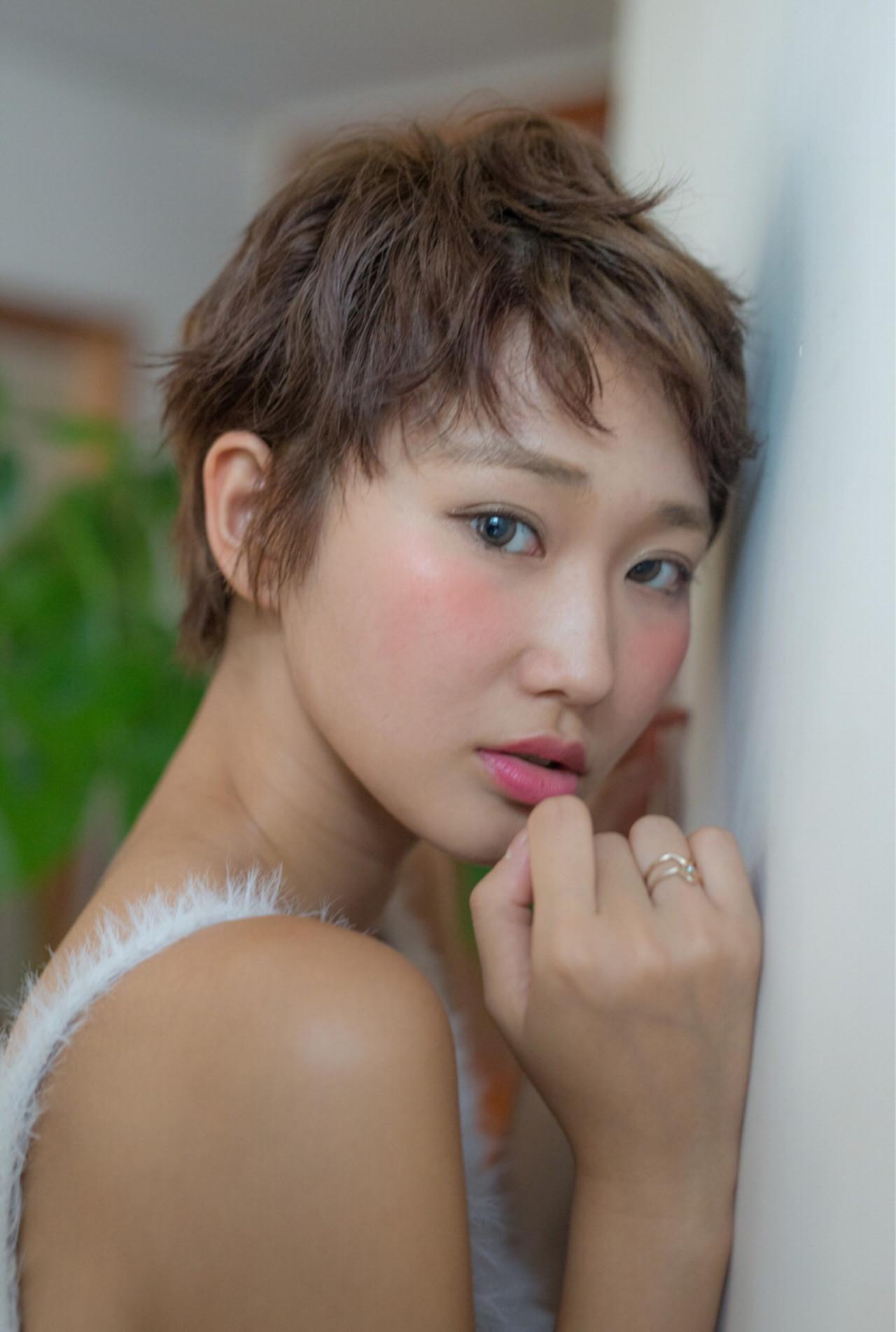 ショートバング ショート くせ毛風 ベリーショート ヘアスタイルや髪型の写真・画像 | Fringe 染谷正 / Fringe Hair Salon