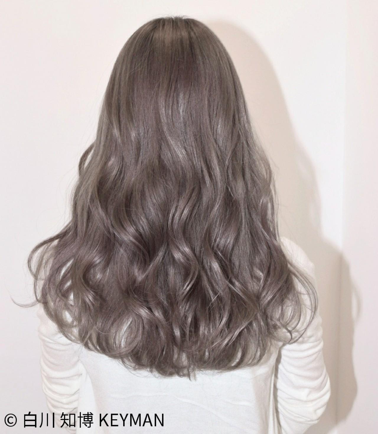 ストリート 秋 セミロング ウェーブ ヘアスタイルや髪型の写真・画像