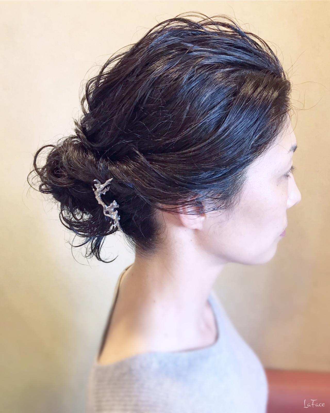 ナチュラル ロング ヘアアレンジ お団子 ヘアスタイルや髪型の写真・画像 | 青柳 哲郎 / ラフェイス / LaFace / ラフェイス