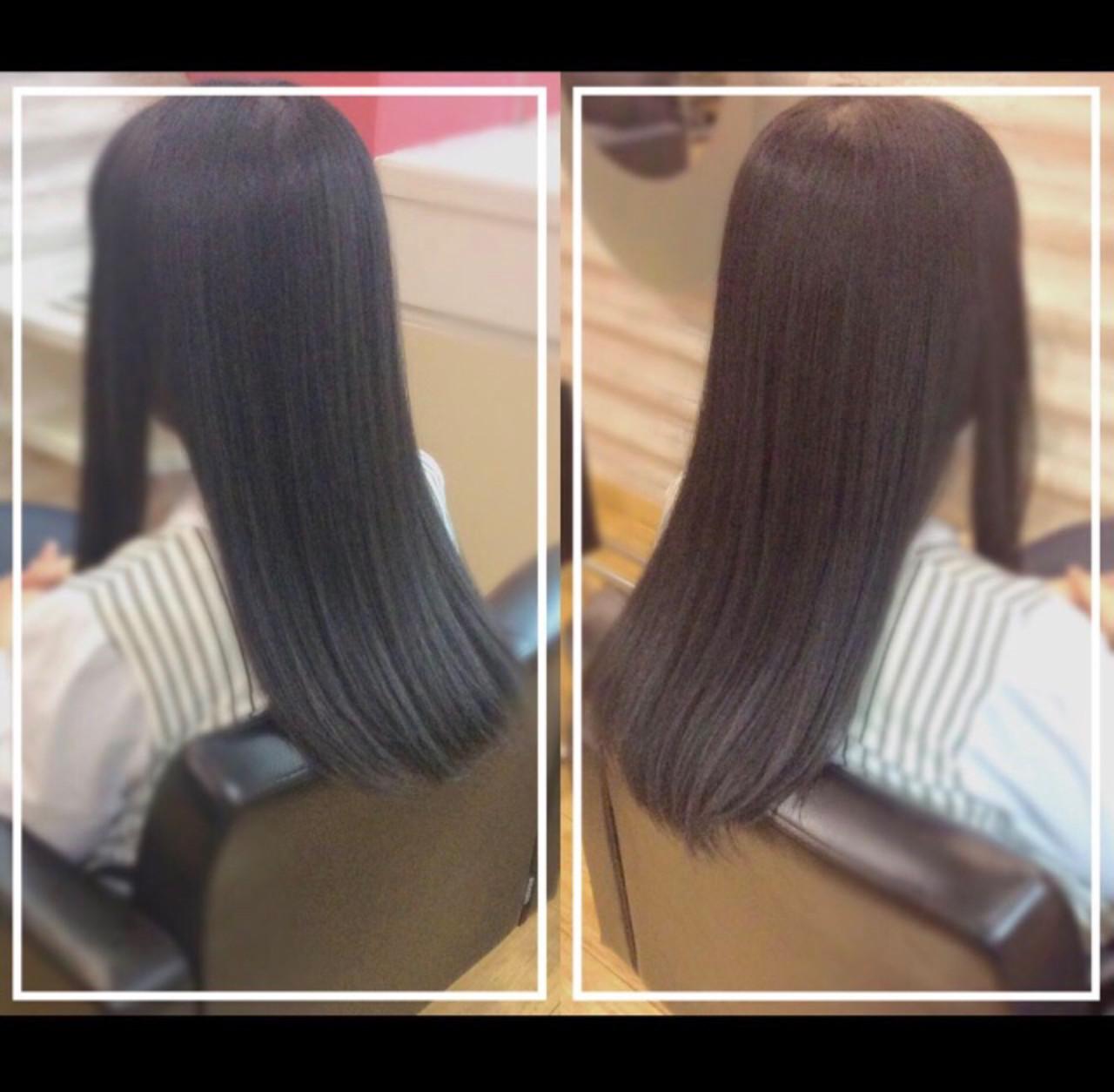 ナチュラル 髪質改善トリートメント 社会人の味方 オフィス ヘアスタイルや髪型の写真・画像 | KON / &g