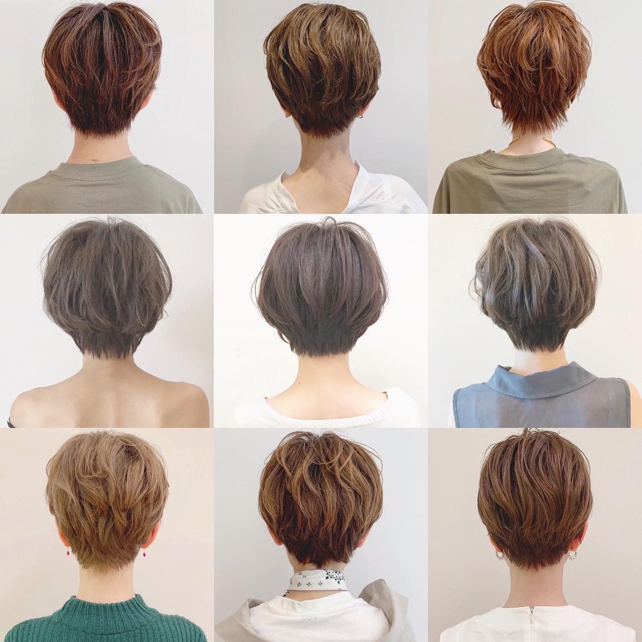 オフィス アウトドア デート ショート ヘアスタイルや髪型の写真・画像 | ショートヘア美容師 #ナカイヒロキ / 『send by HAIR』