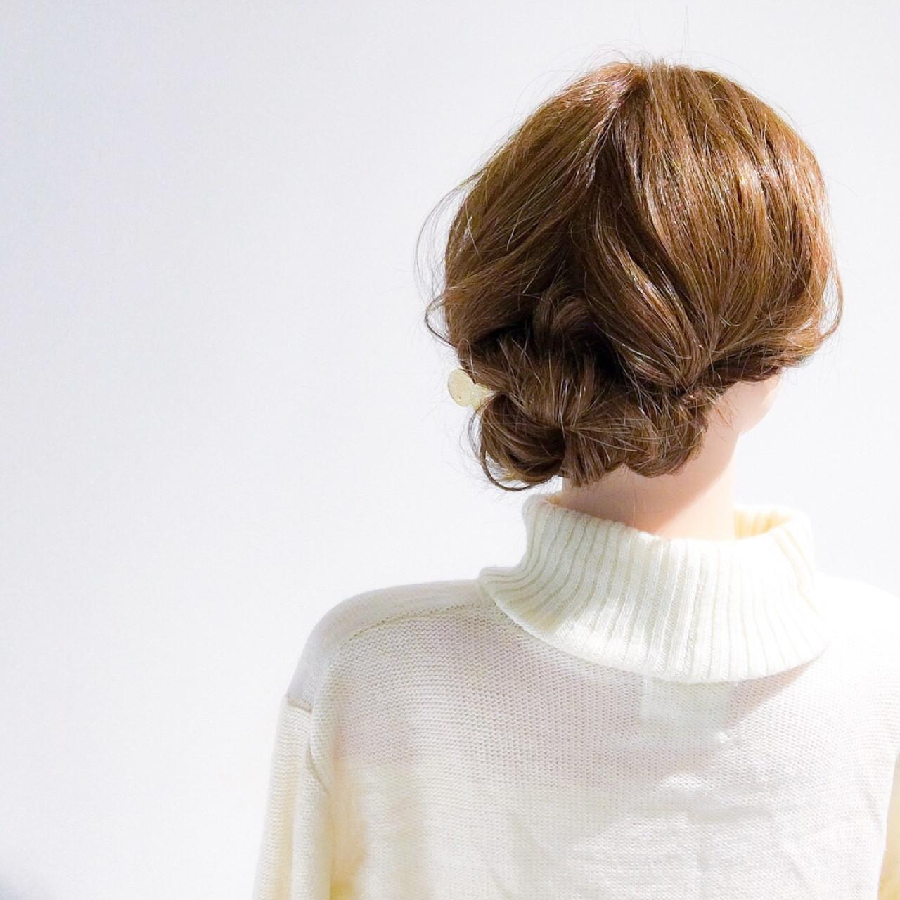 セミロング オフィス 結婚式 上品 ヘアスタイルや髪型の写真・画像